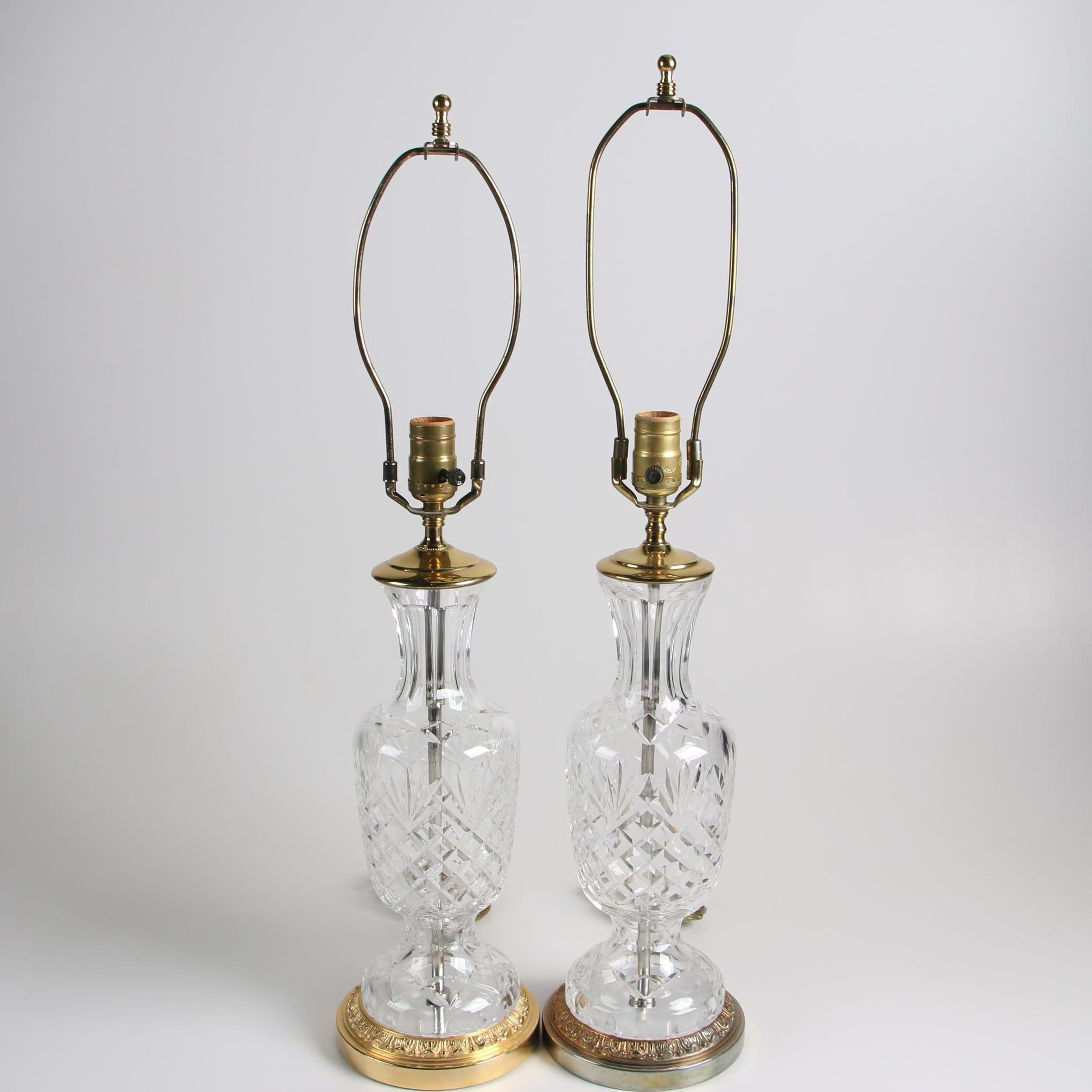"""Waterford """"Sullivan"""" Cut Crystal Table Lamps"""