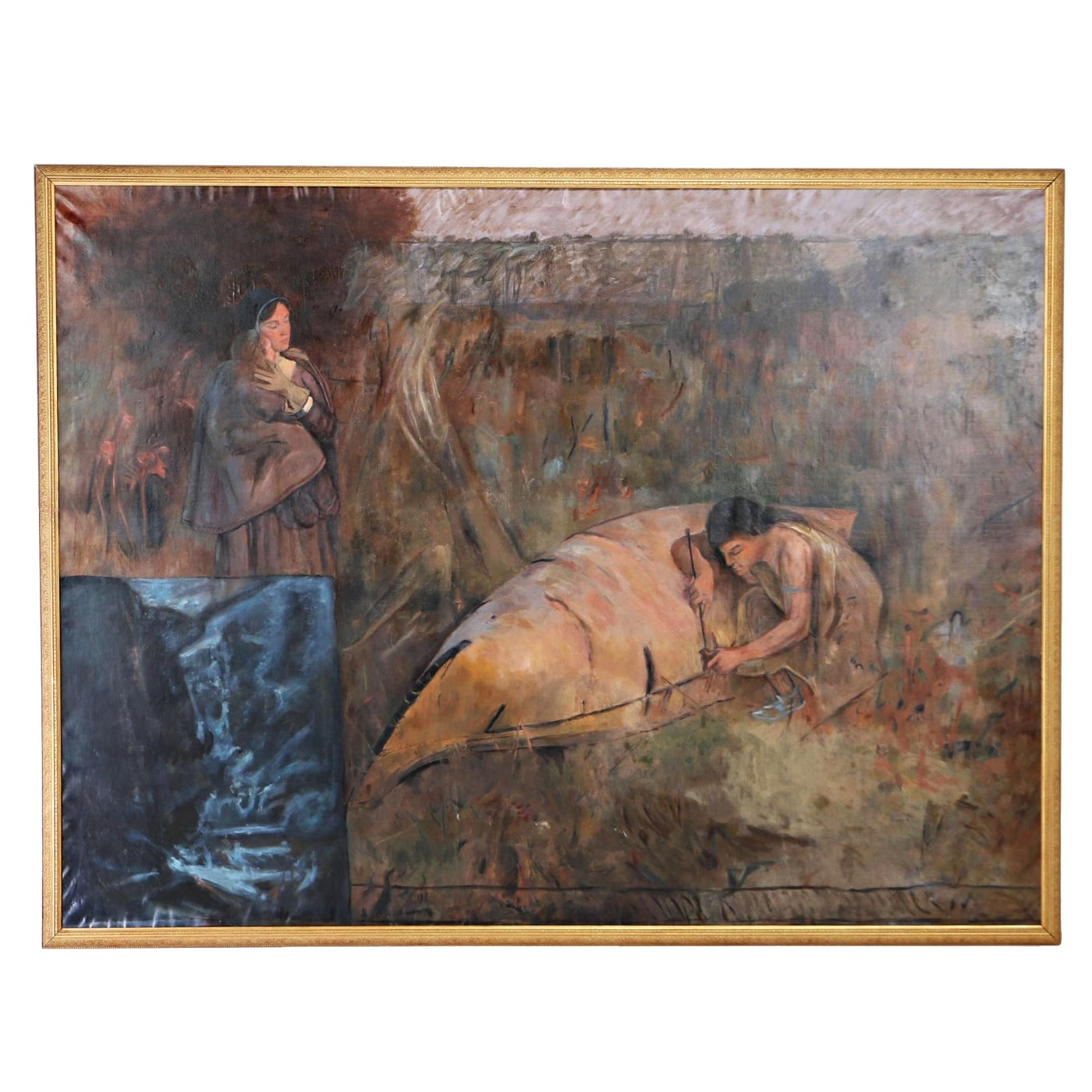 Late 19th Century Monumental Oil Painting