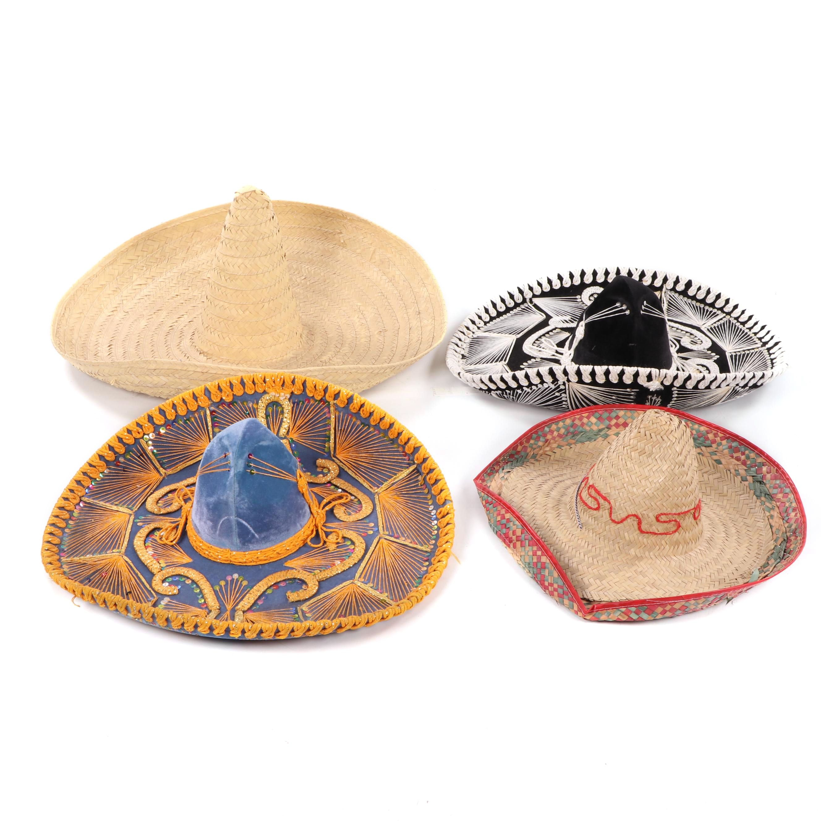 Woven and Embellished Sombreros, Made in Mexico