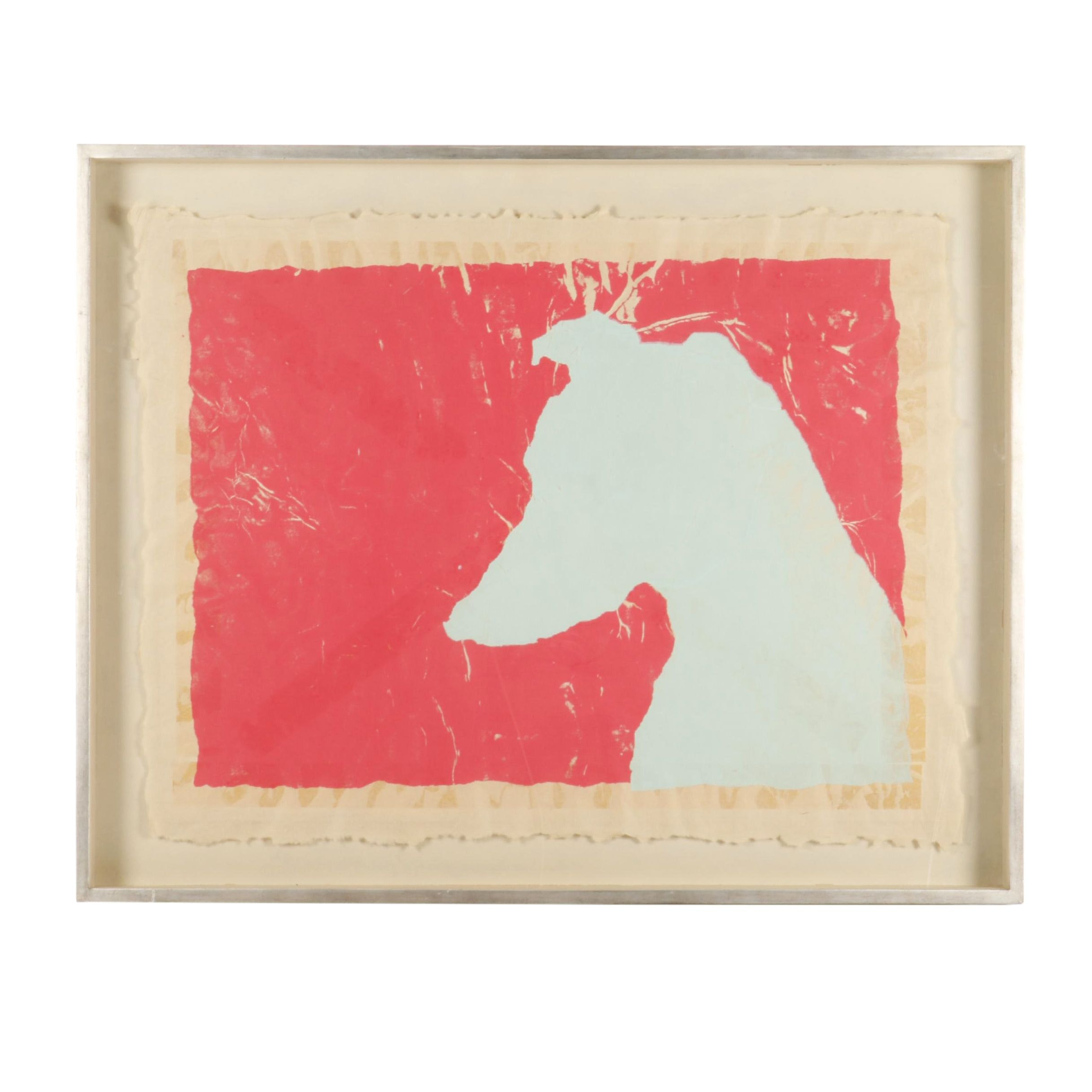 Serigraph of Whippet Dog