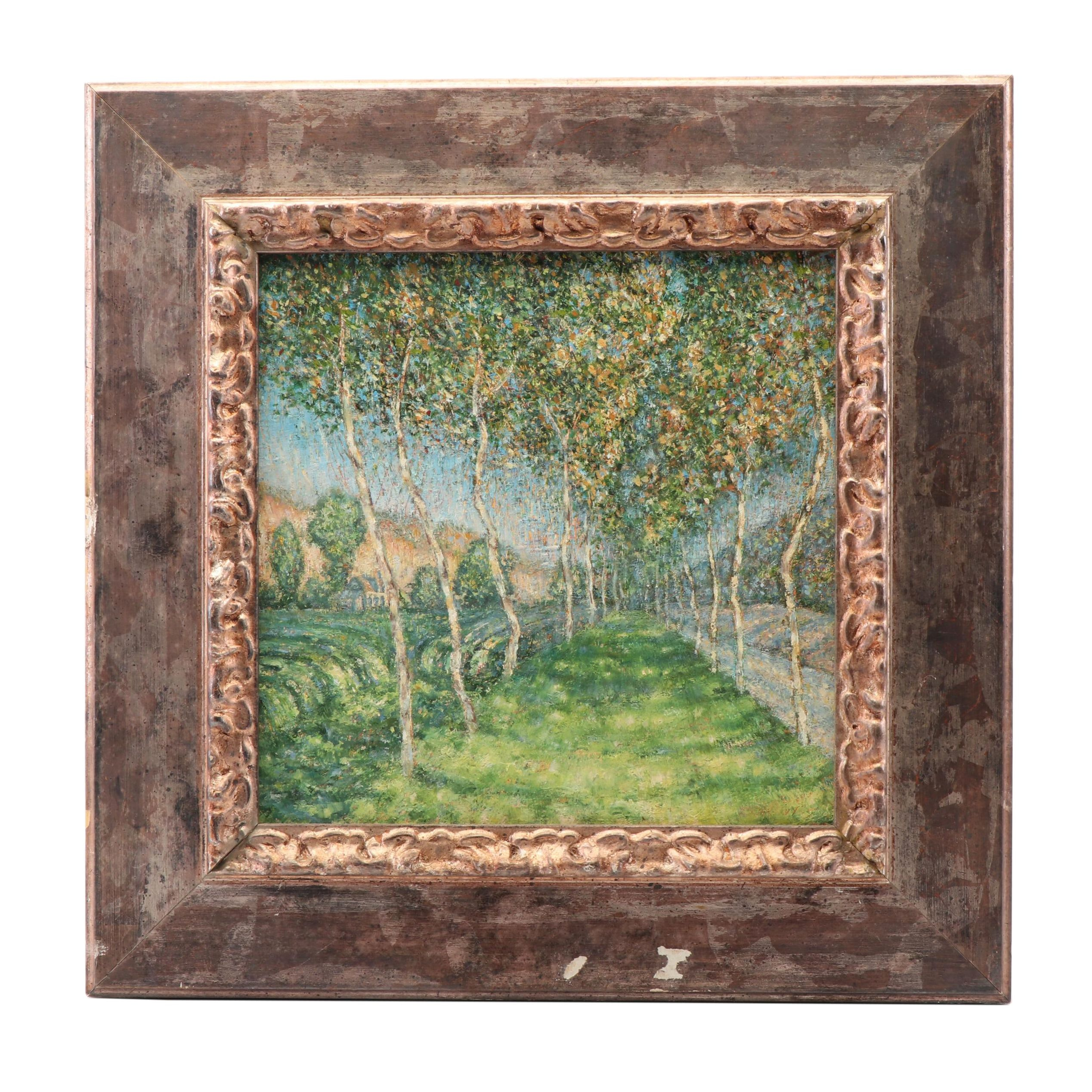 Impressionist Style Landscape Oil Painting