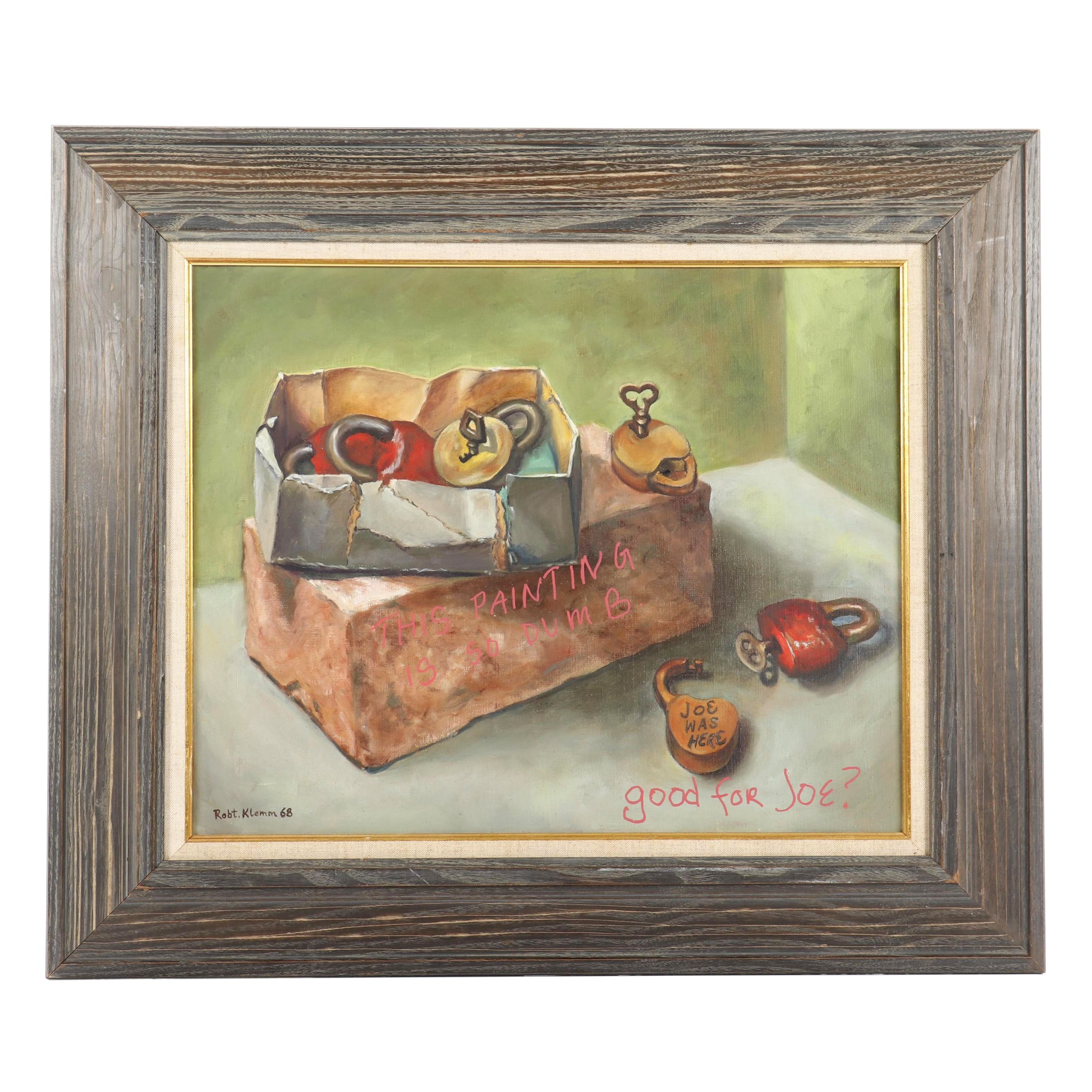 Robert Klemm Still Life Oil Painting