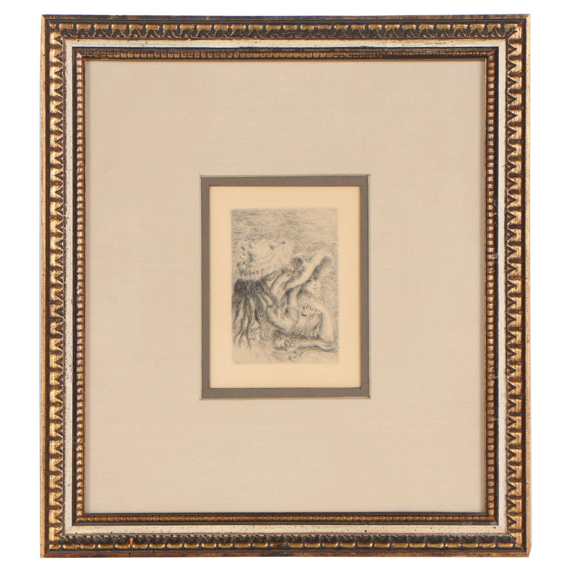 """Pierre-Auguste Renoir Second State Etching """"Le Chapeaux Épinglé"""""""