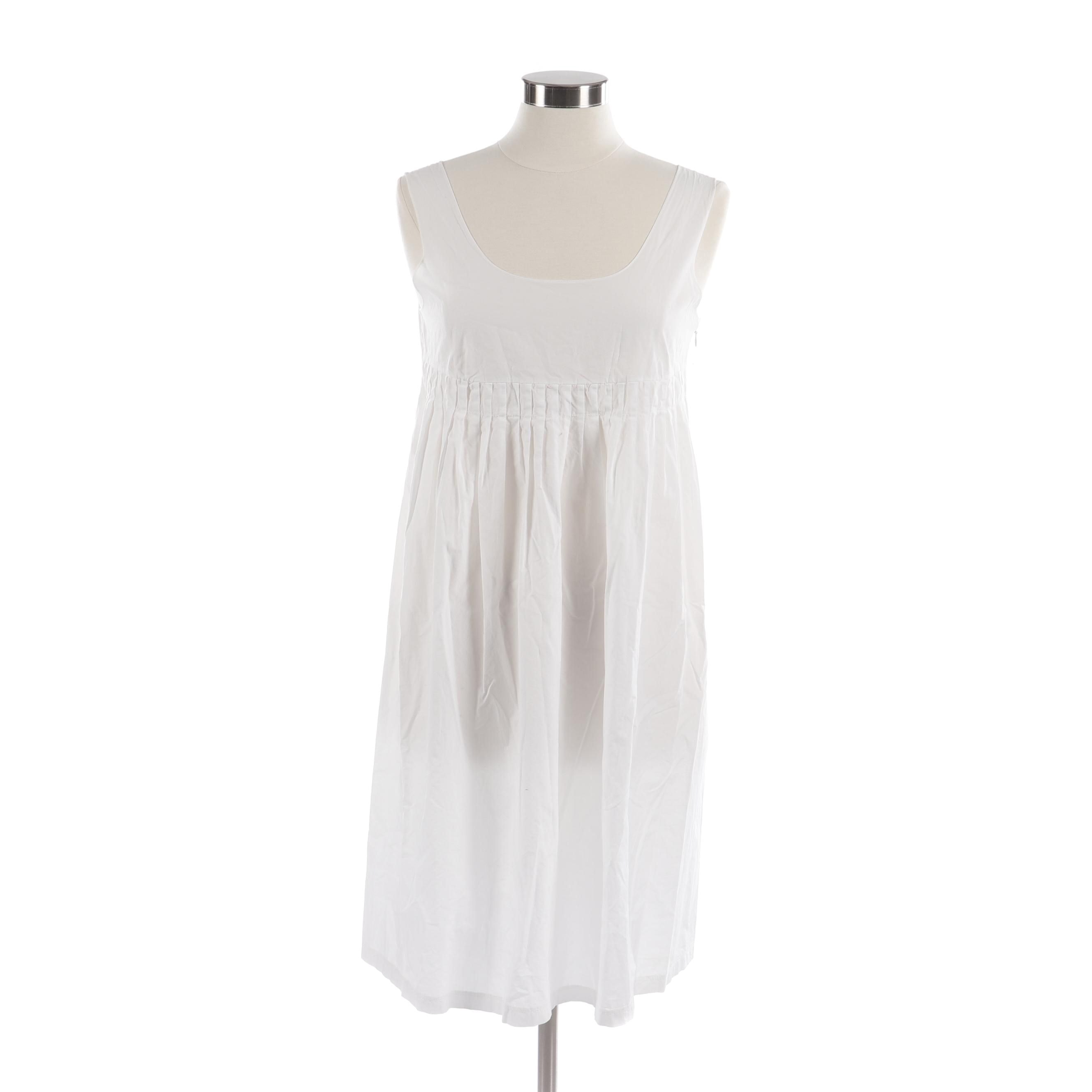 Marni Sleeveless White Dress, Made in Italy