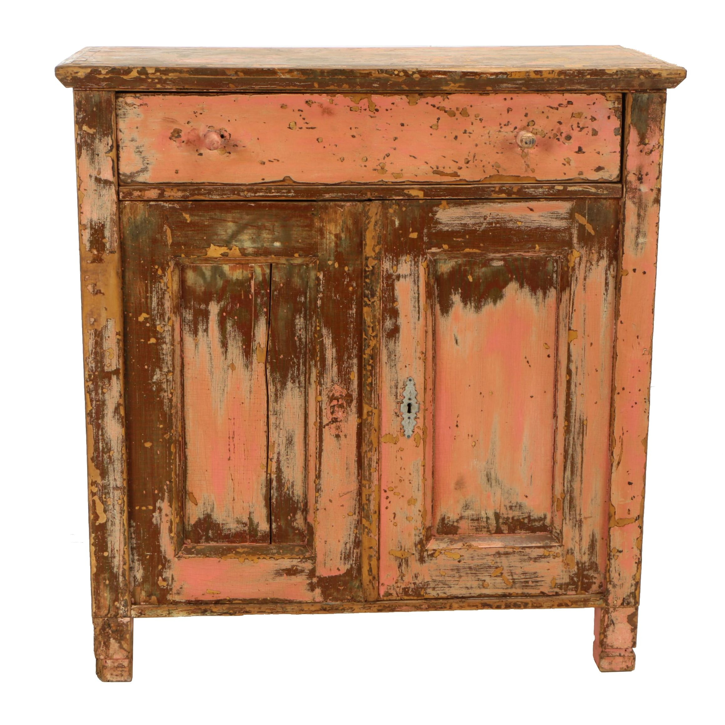 Painted Pine Cabinet, Late 19th/Early 20th Century