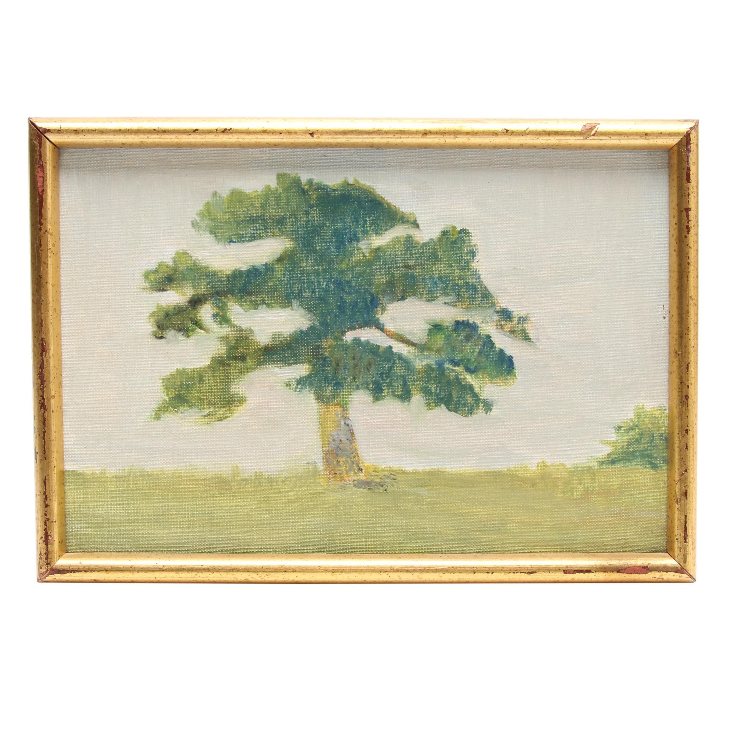 Landscape Oil Painting of a Tree