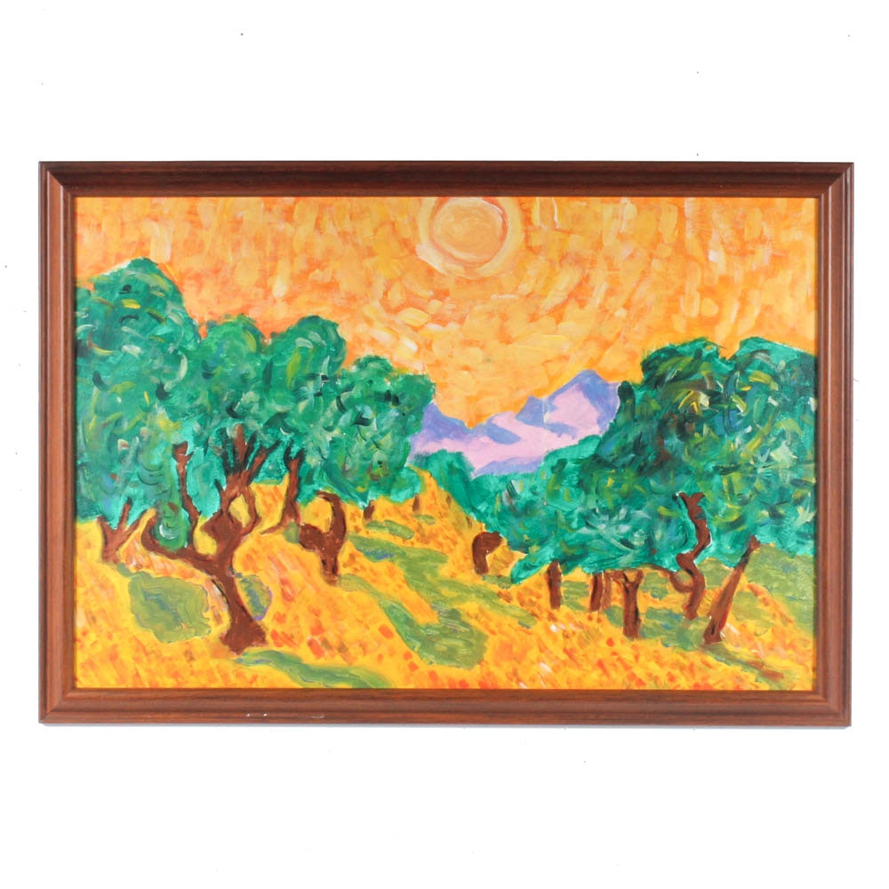 Expressionist Oil Painting Landscape