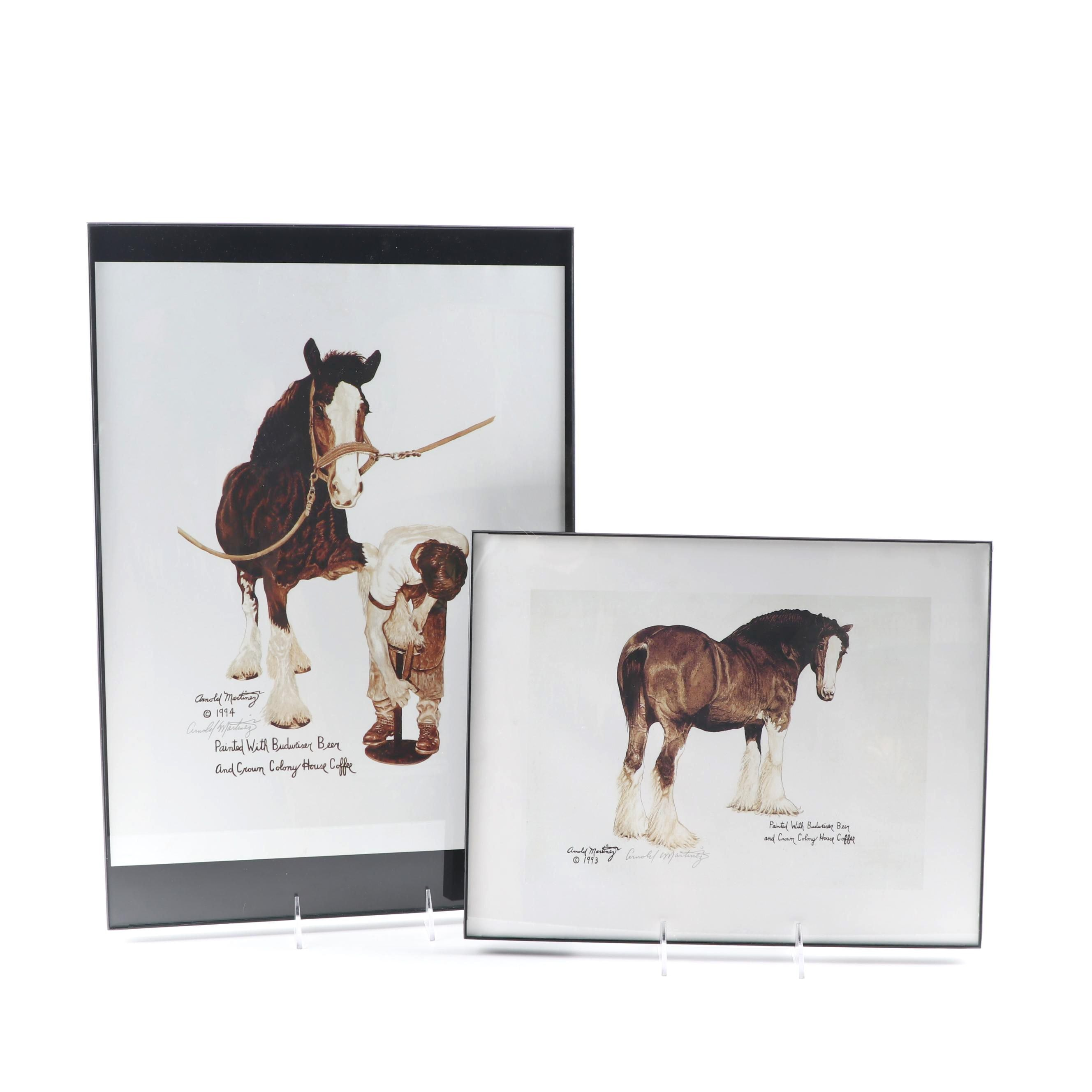 Arnold Martinez Offset Lithographs of Clydesdale Horses
