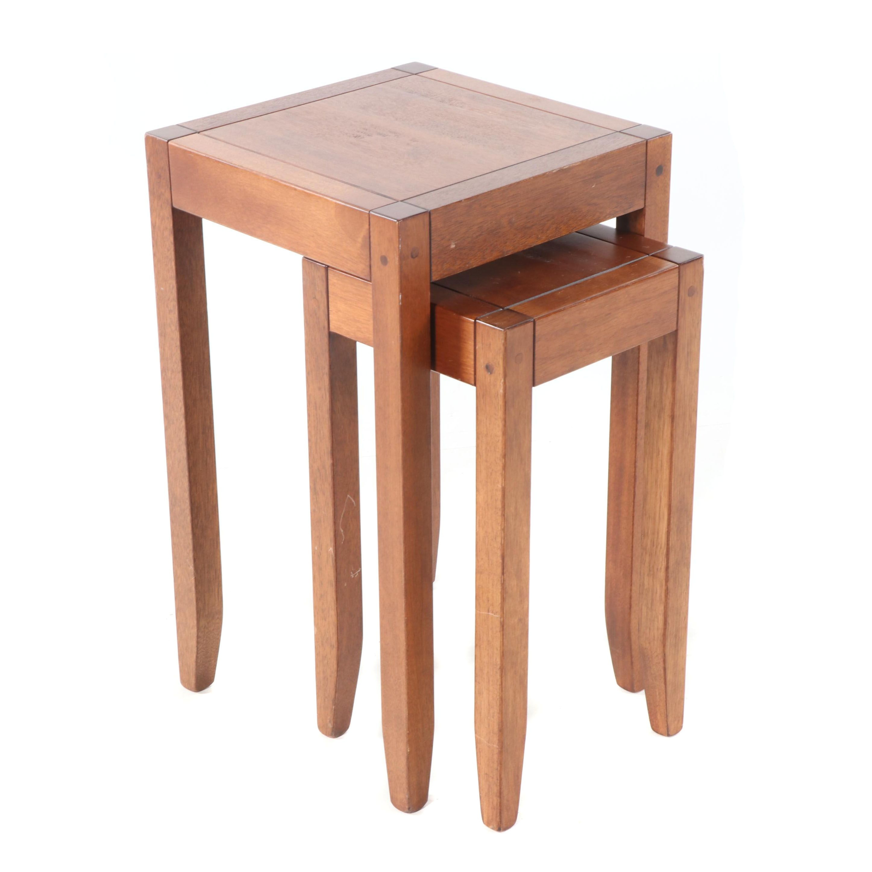 Mahogany Nesting Tables, 21st Century