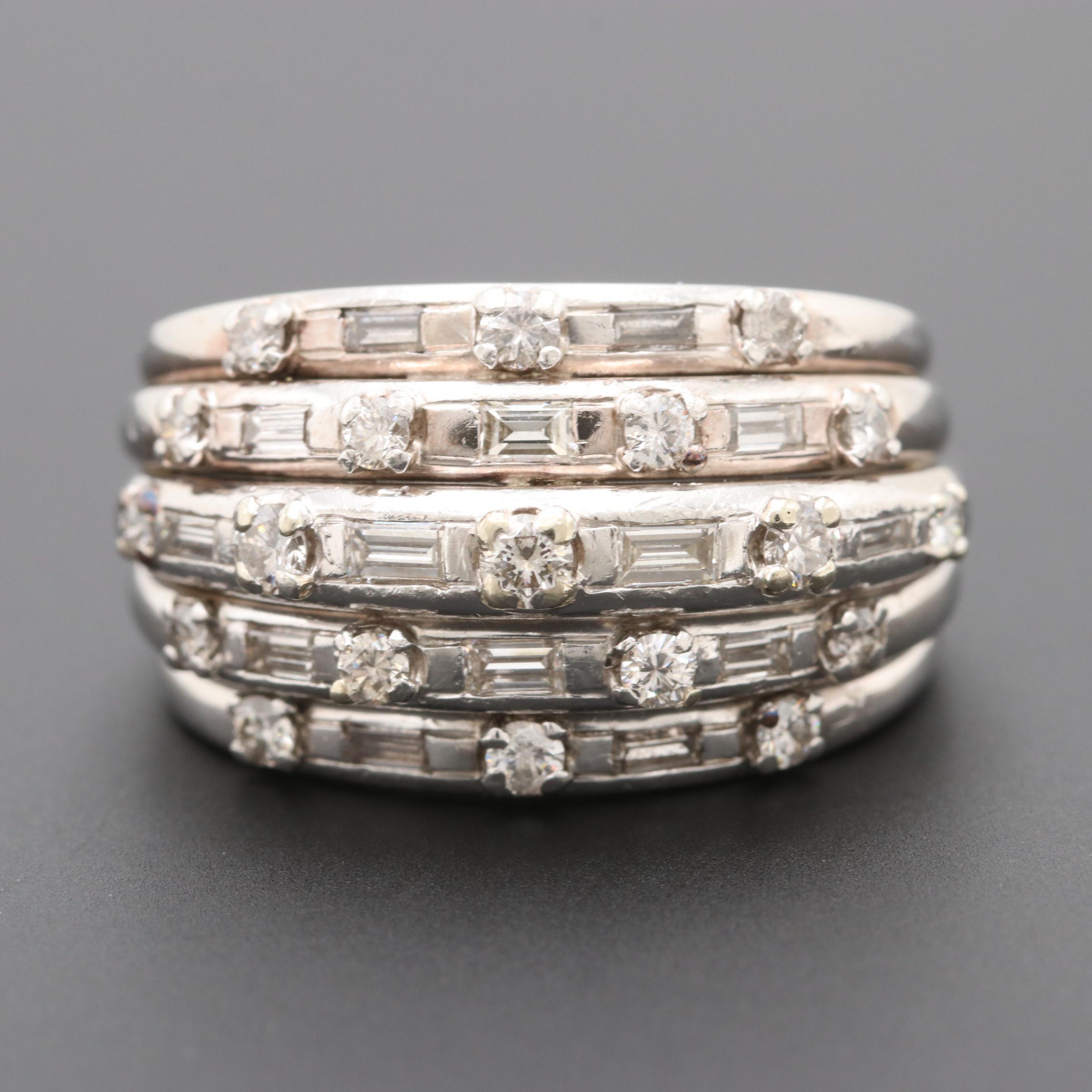 Platinum 1.25 CTW Diamond Ring
