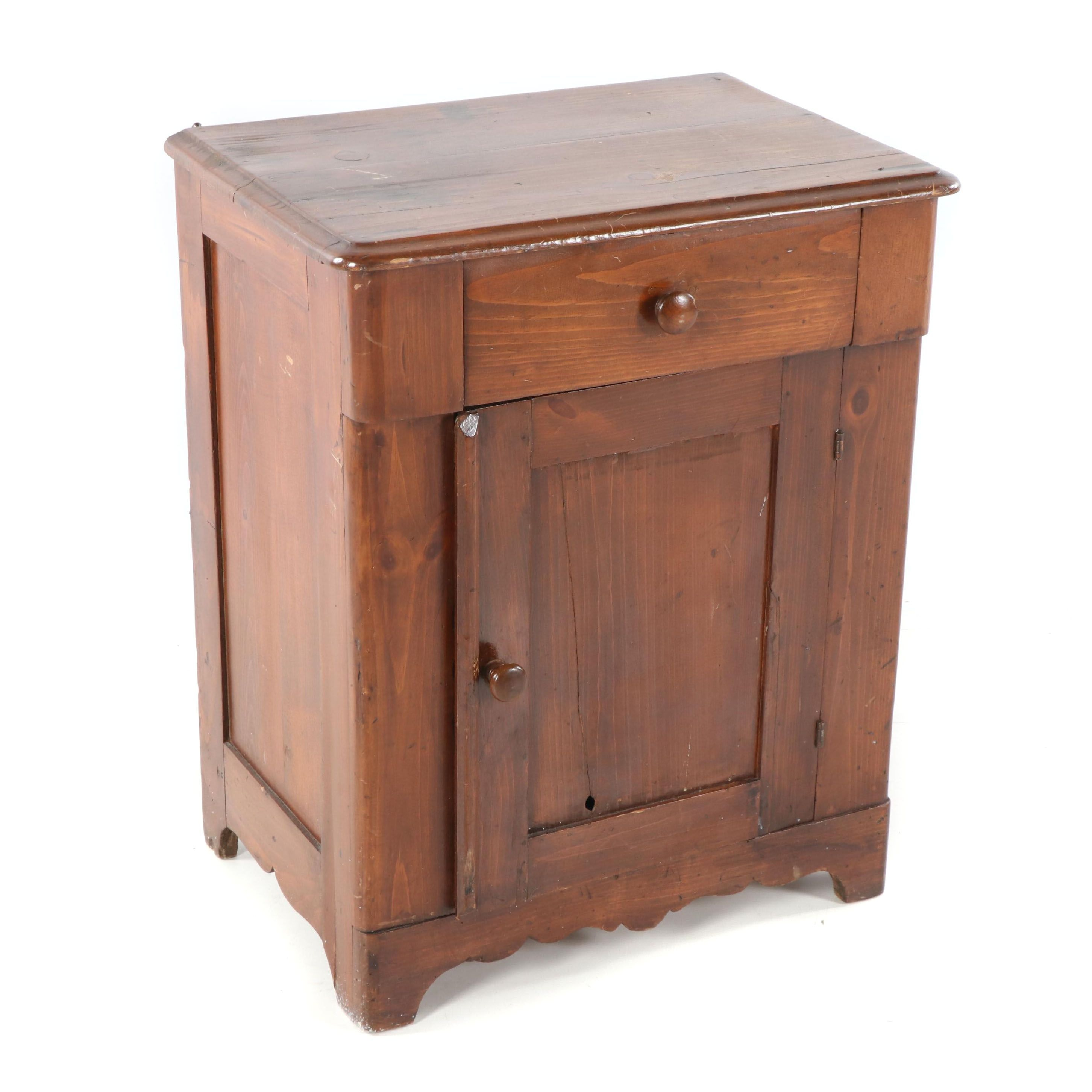 Mixed Woods Small Cabinet, Early 20th Century