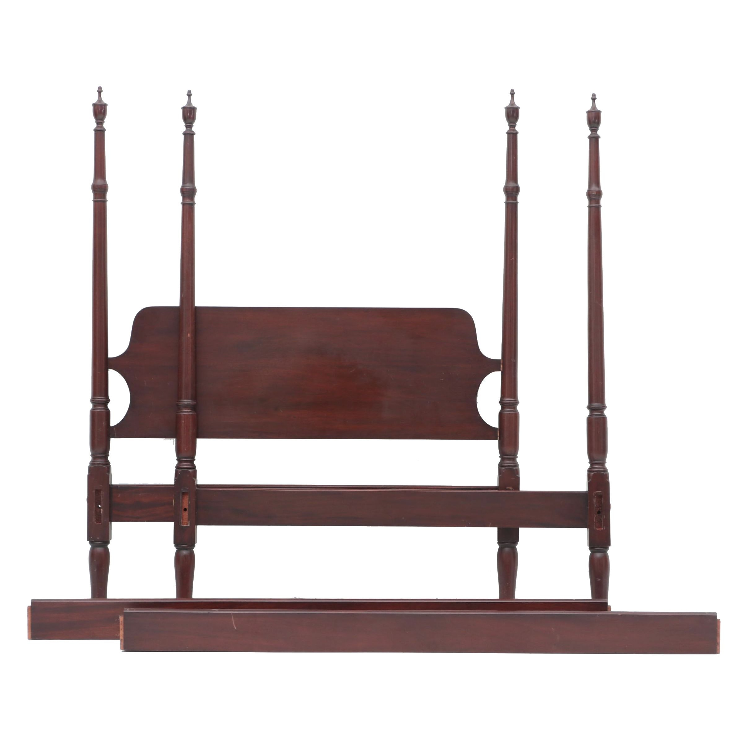 Mahogany Federal Style Bed with Rails