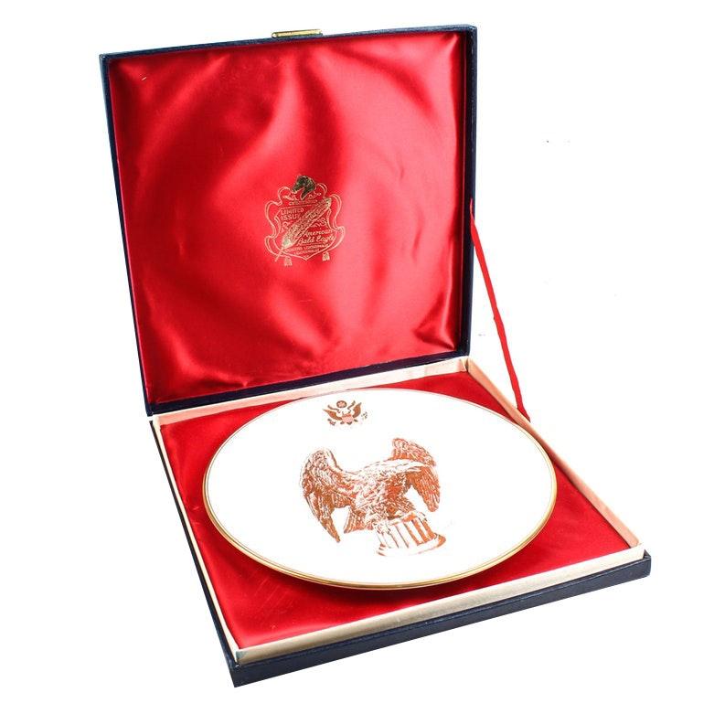 "Boehm Bicentennial ""American Bald Eagle"" Porcelain Plate"