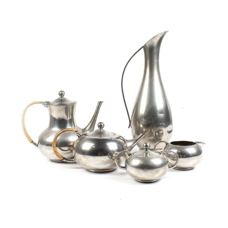 Royal Holland Pewter Coffee and Tea Service