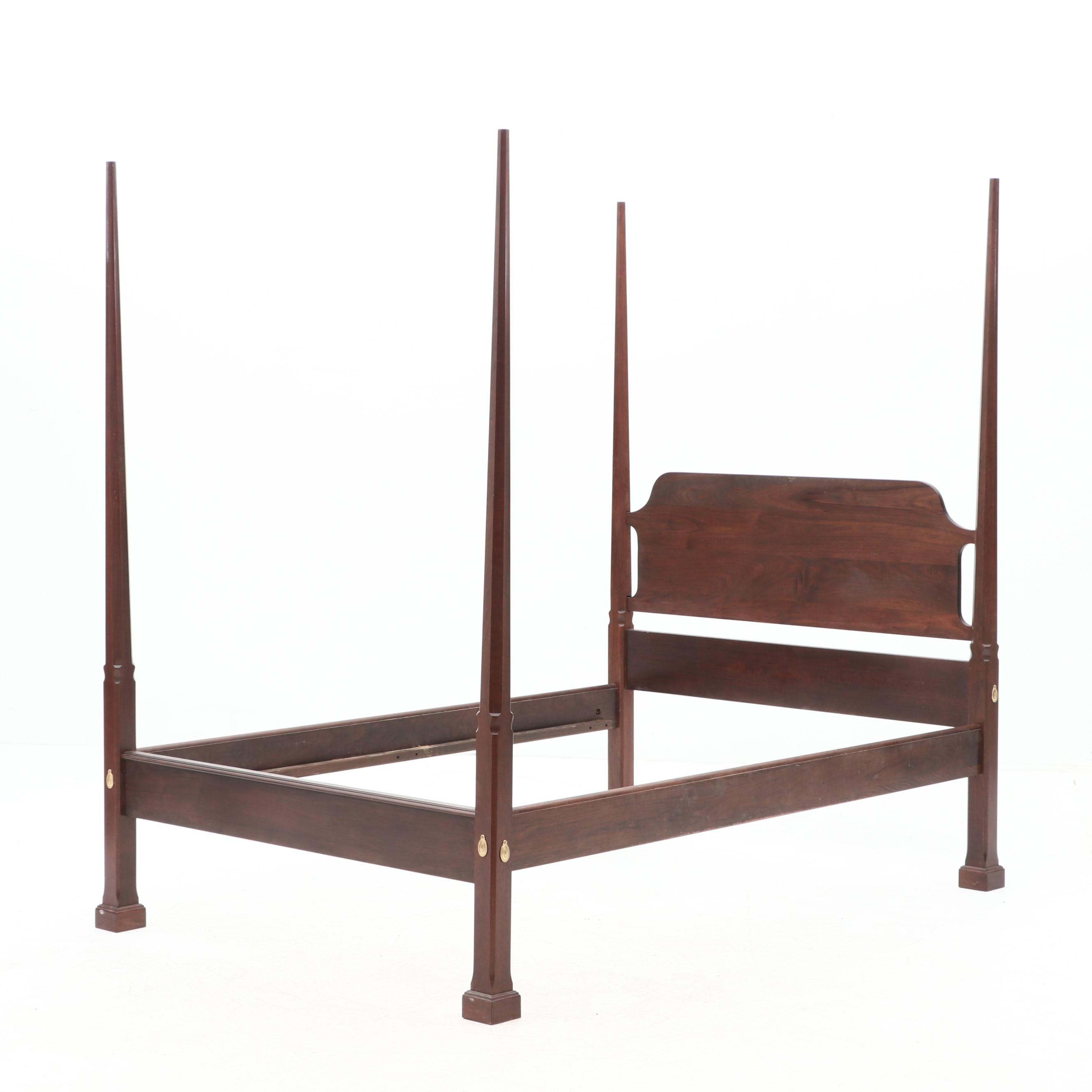 Walnut Pencil Post Bed with Rails