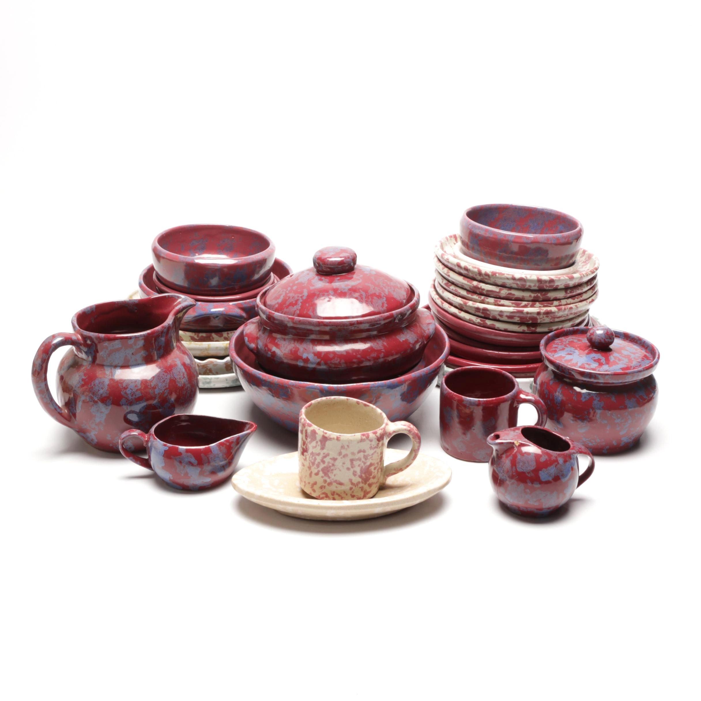 Bybee Pottery Thrown Spongeware Tableware