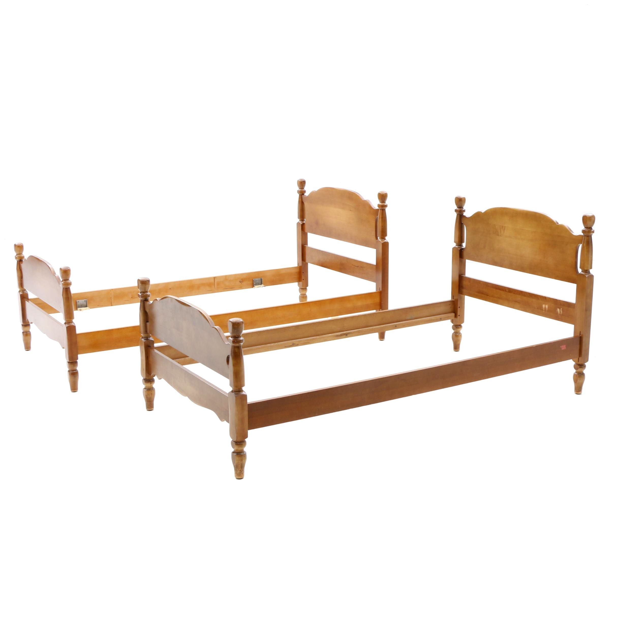 Colonial Style Maple Twin Bed Frames