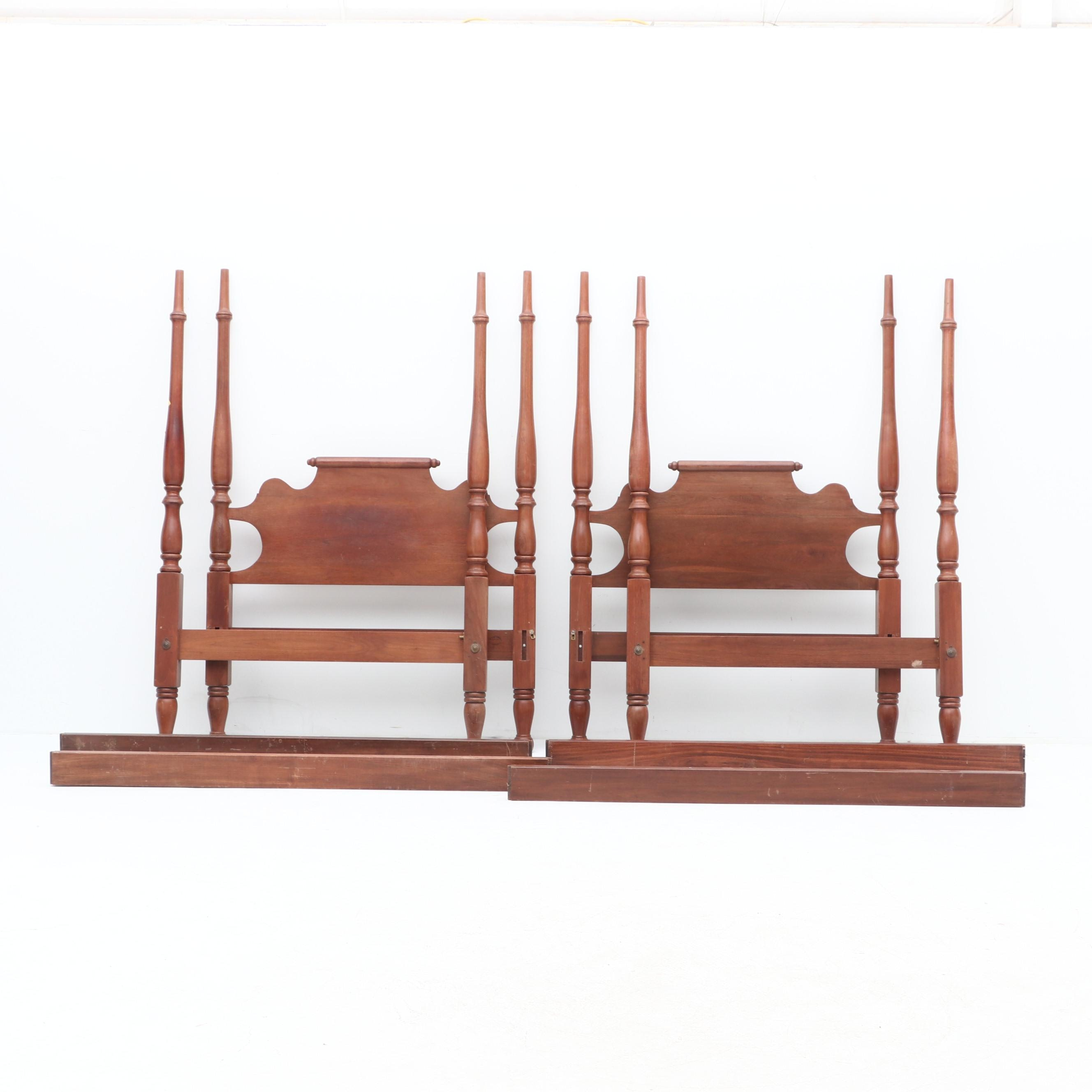 3/4 Size Walnut Four Poster Beds
