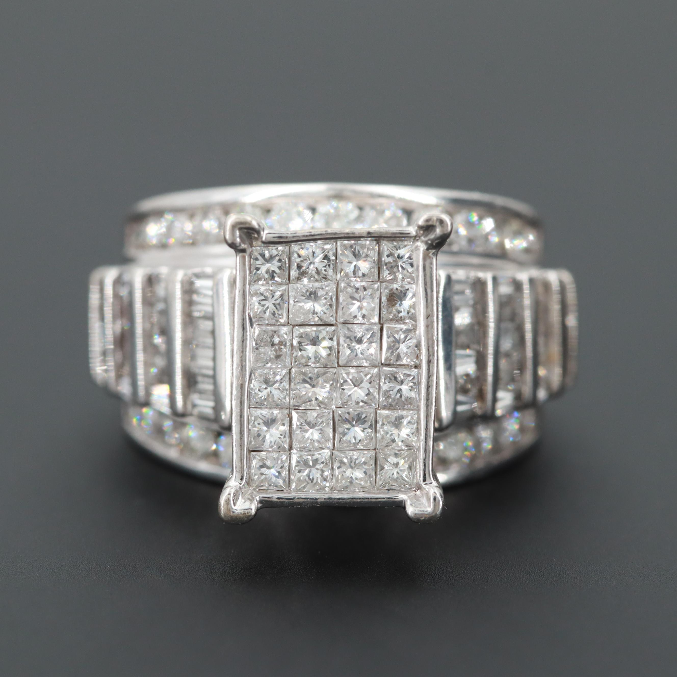 10K White Gold 2.12 CTW Diamond Ring
