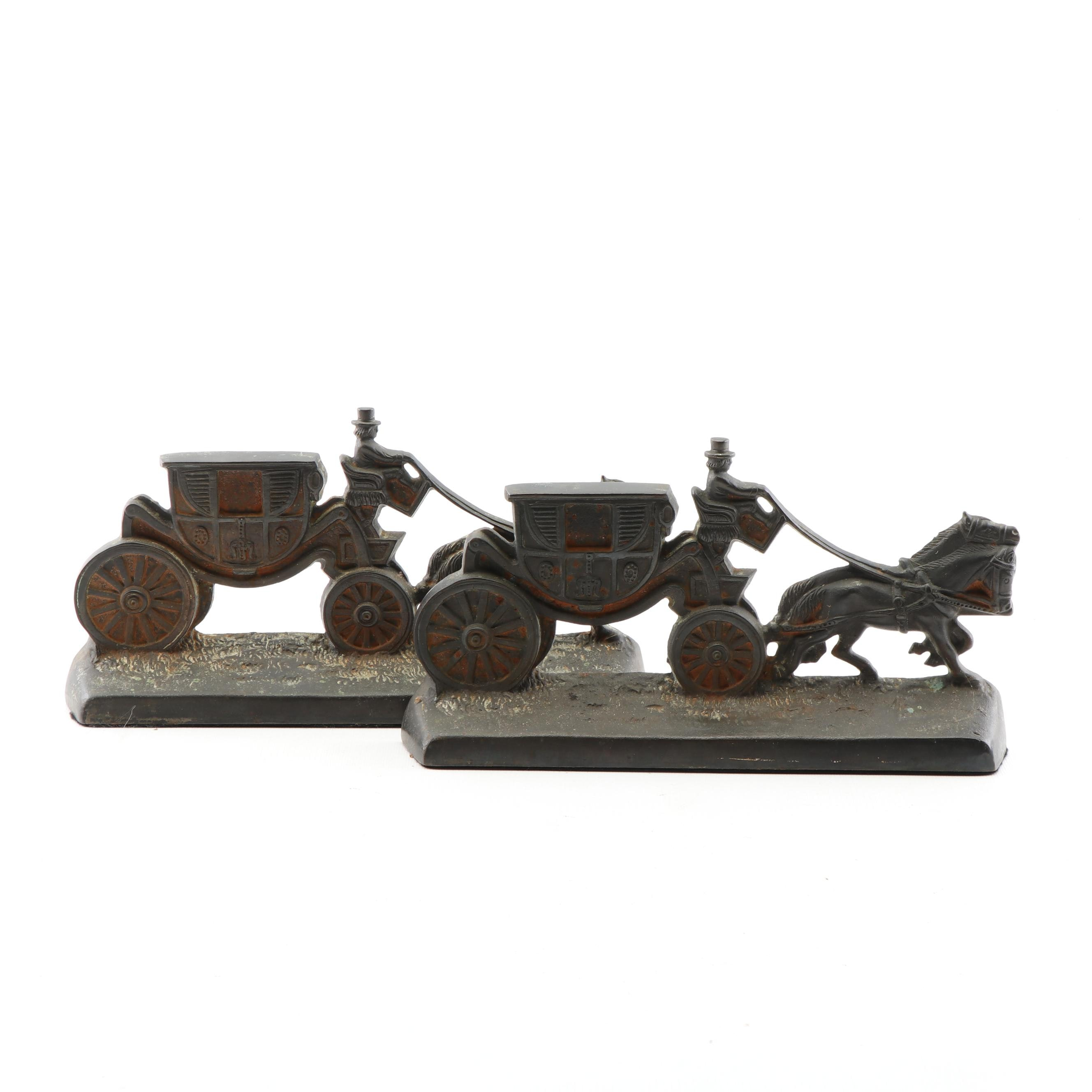 Hubley Cast Iron Horse and Carriage Door Stops