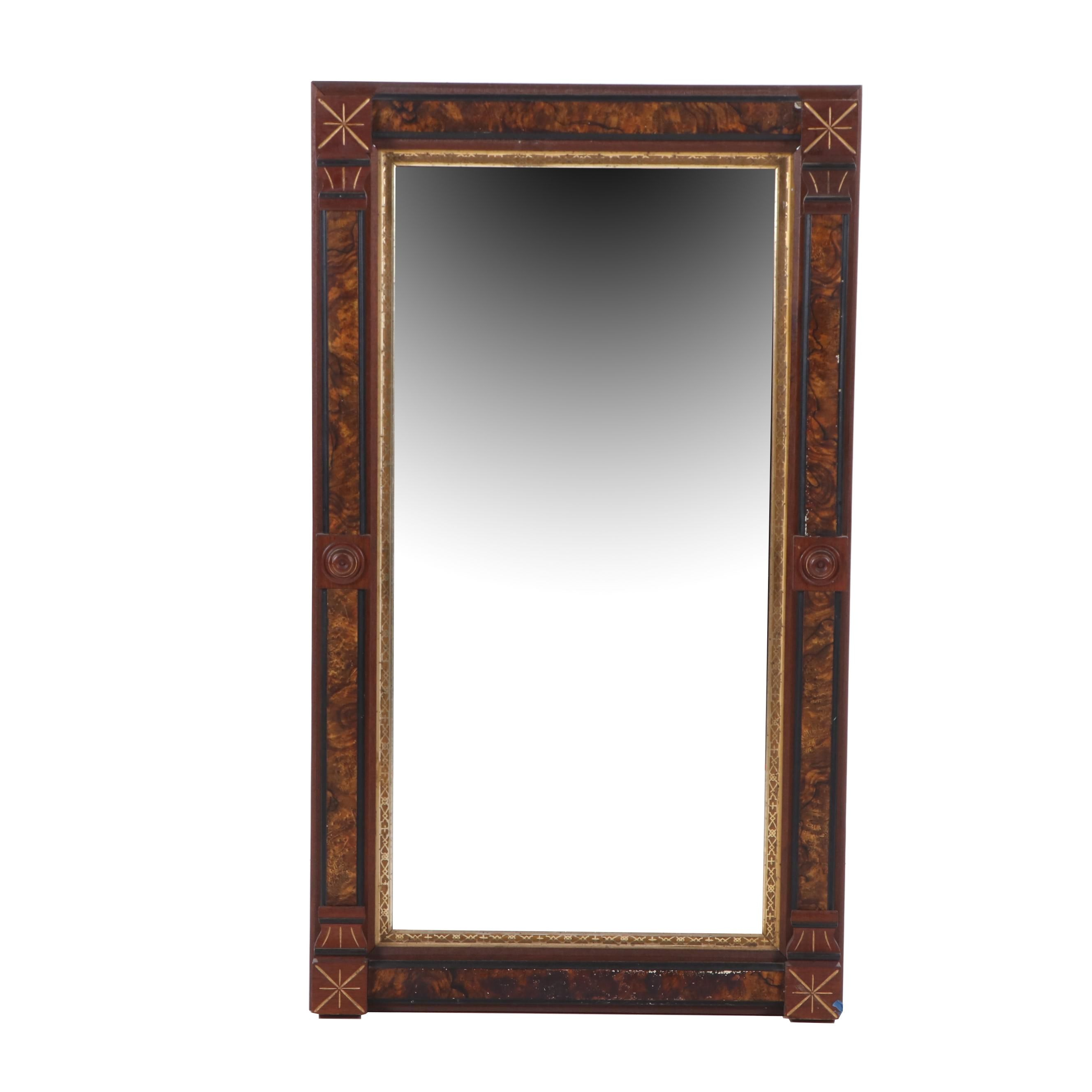 Victorian Eastlake Style Mirror with Gilt Trim and Faux Bois Effect