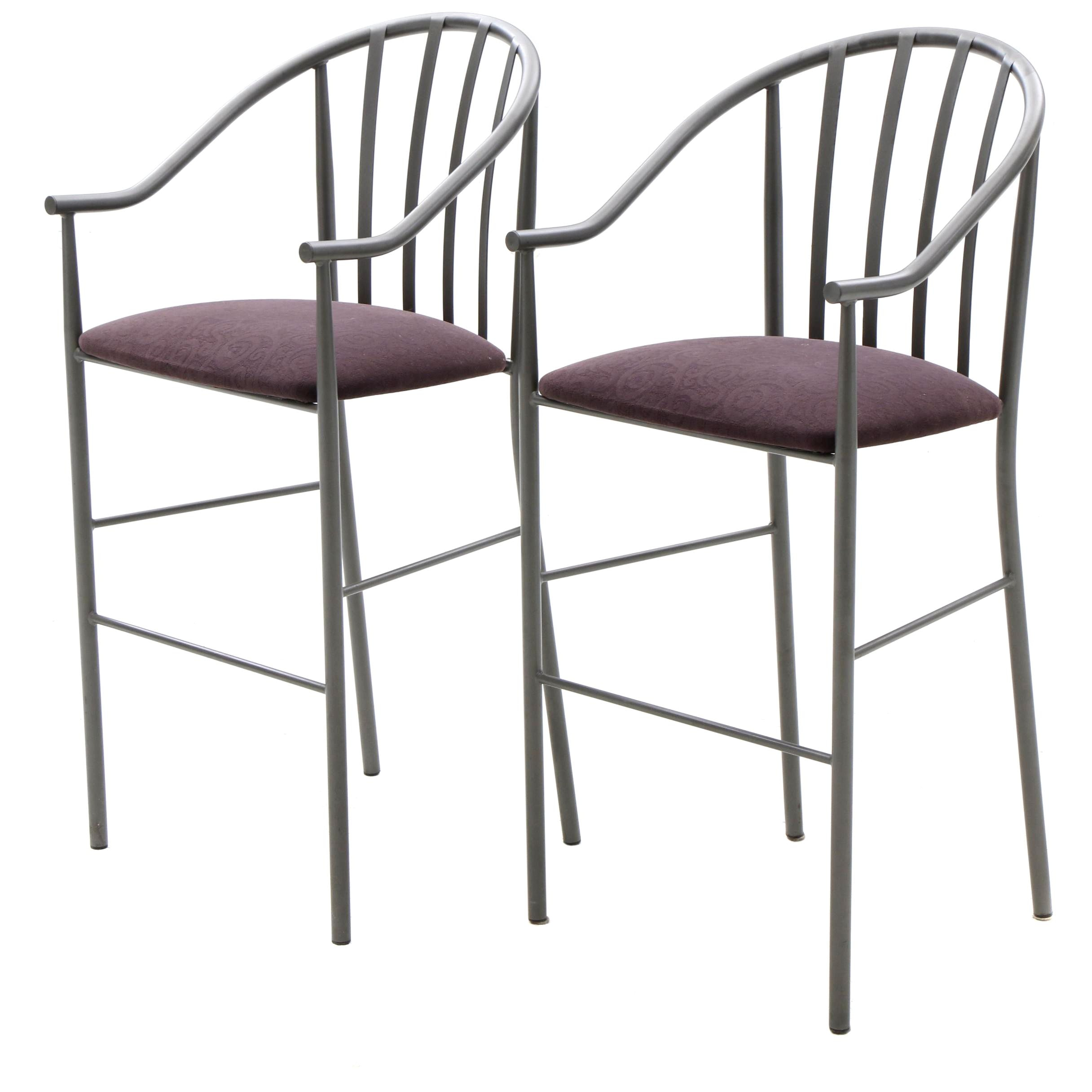 Upholstered Metal Frame Counter Height Chairs by Amisco Industries Ltd.