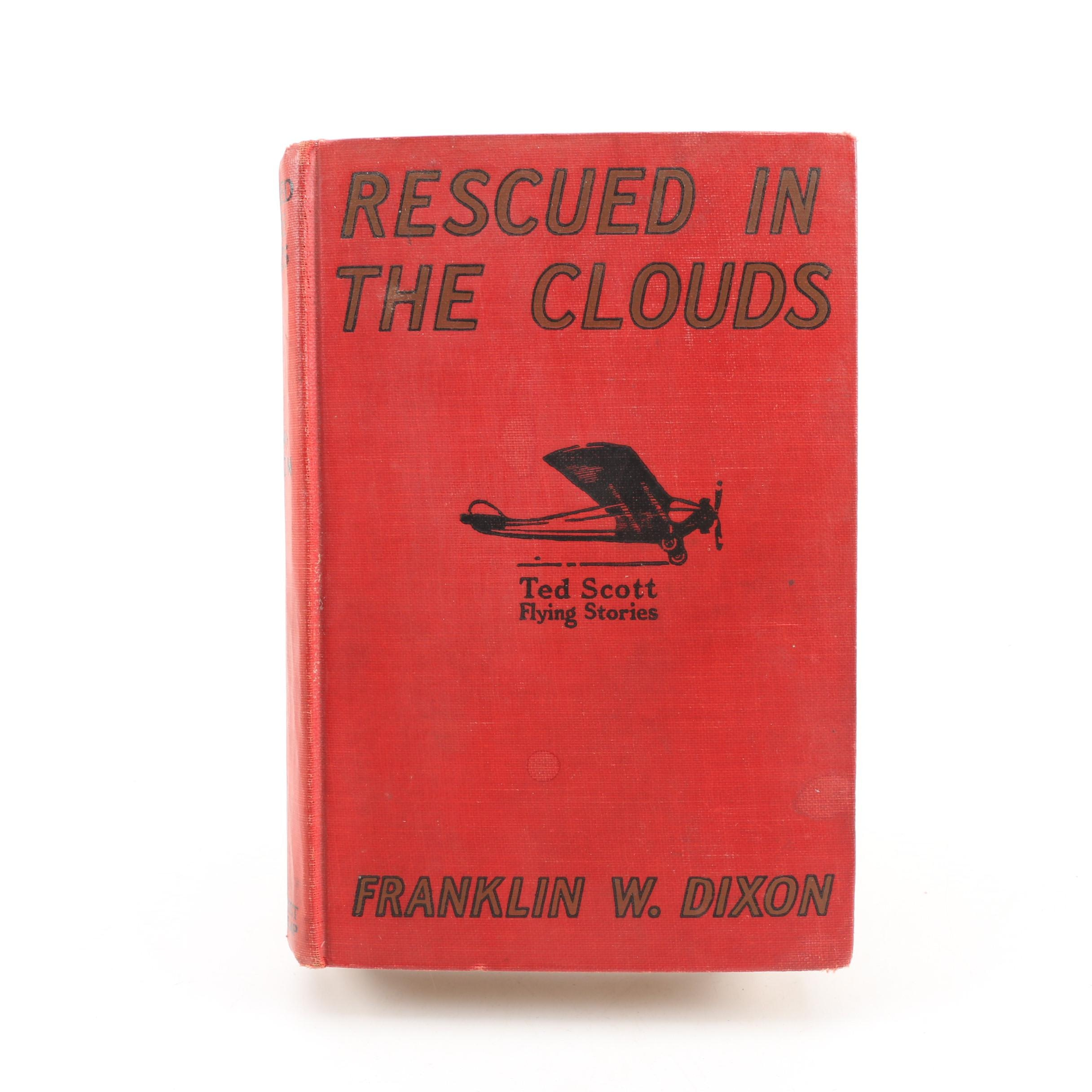 "First Edition ""Rescued In The Clouds"" by Franklin W. Dixon, 1927"