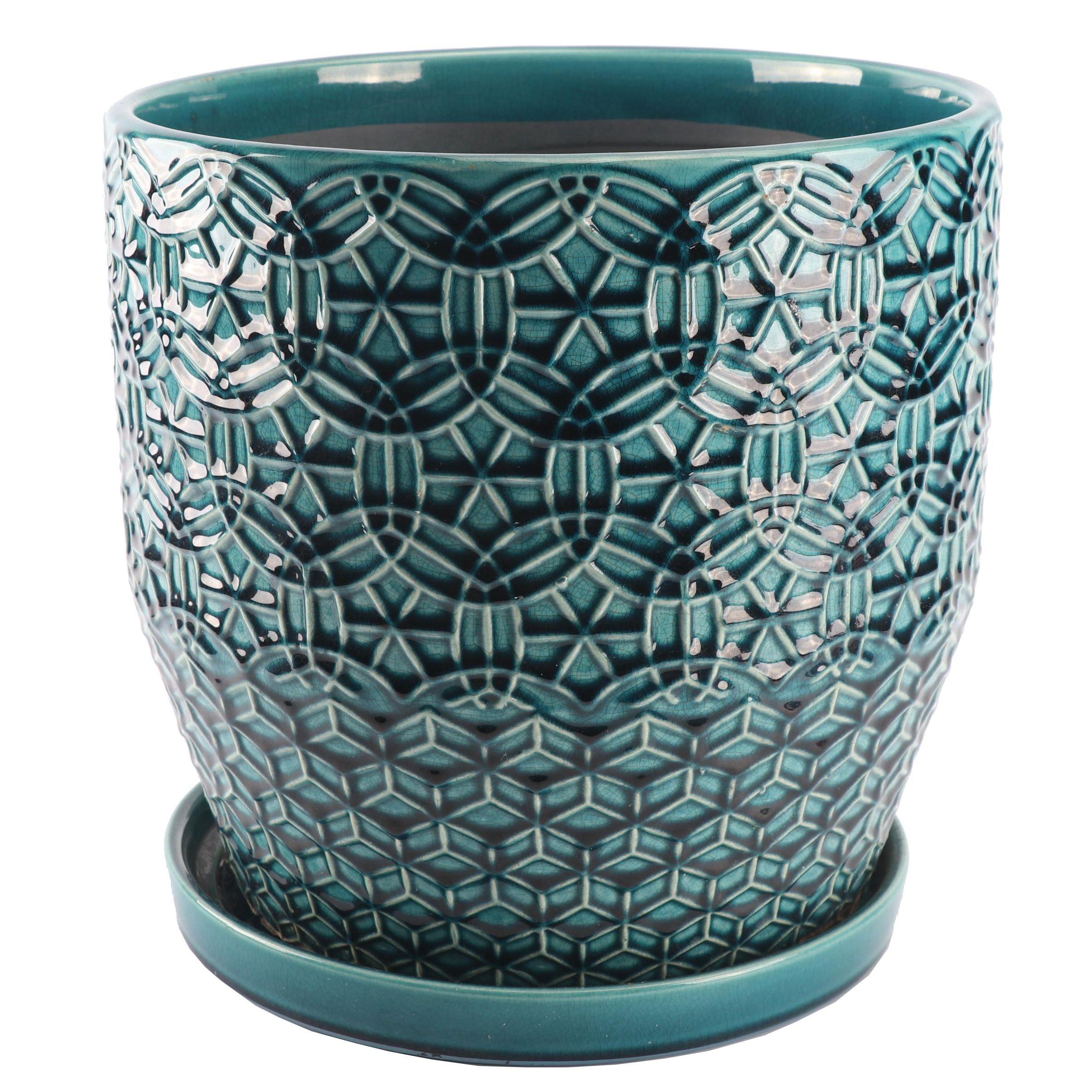 Ceramic Planter with Geometric Design