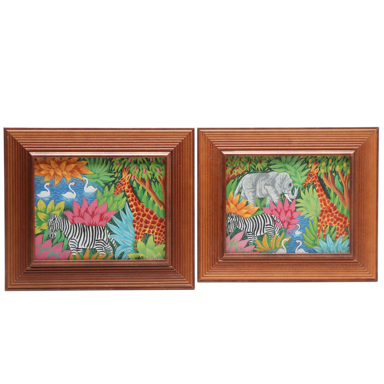 Docteur Philogene Oil Painting of Safari Animals