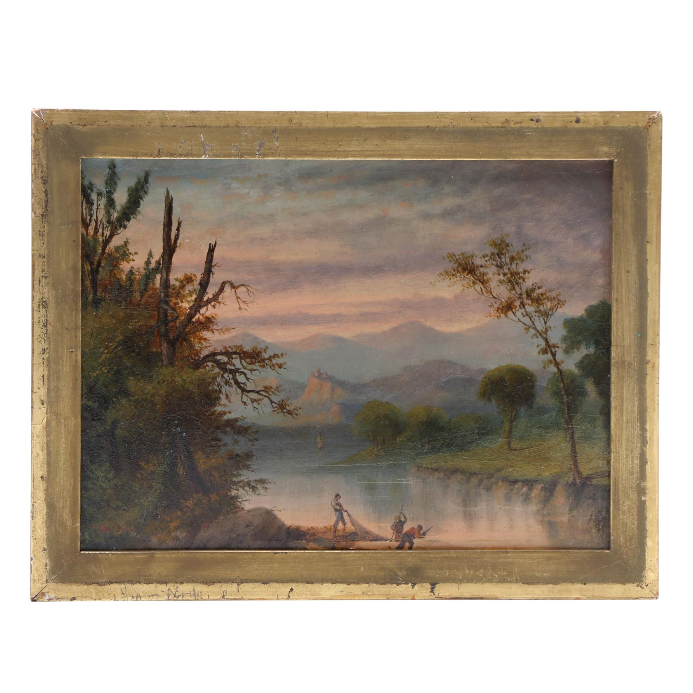 Late 19th-Century American Landscape Oil Painting