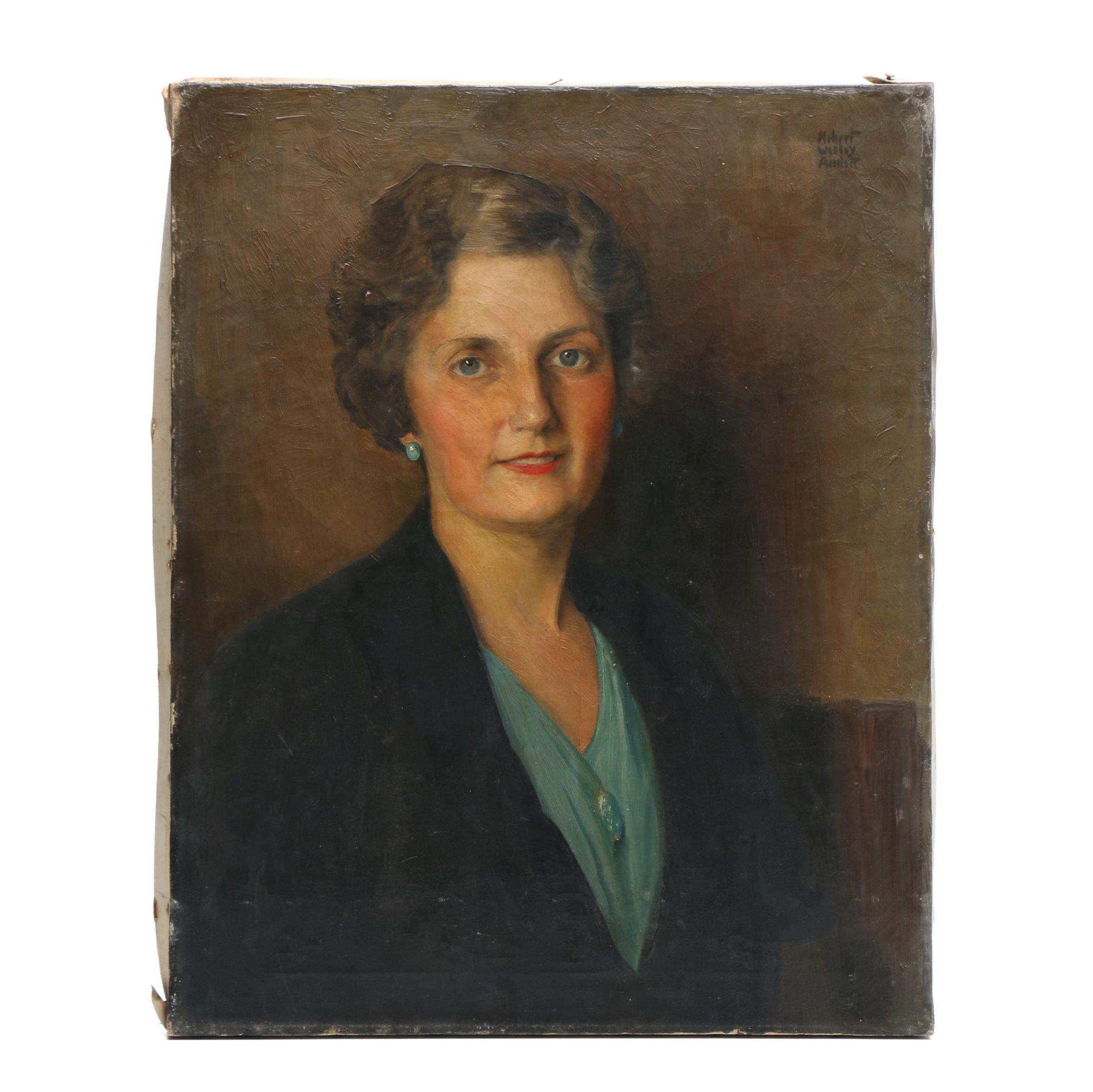 Robert Wesley Amick Oil Portrait Painting