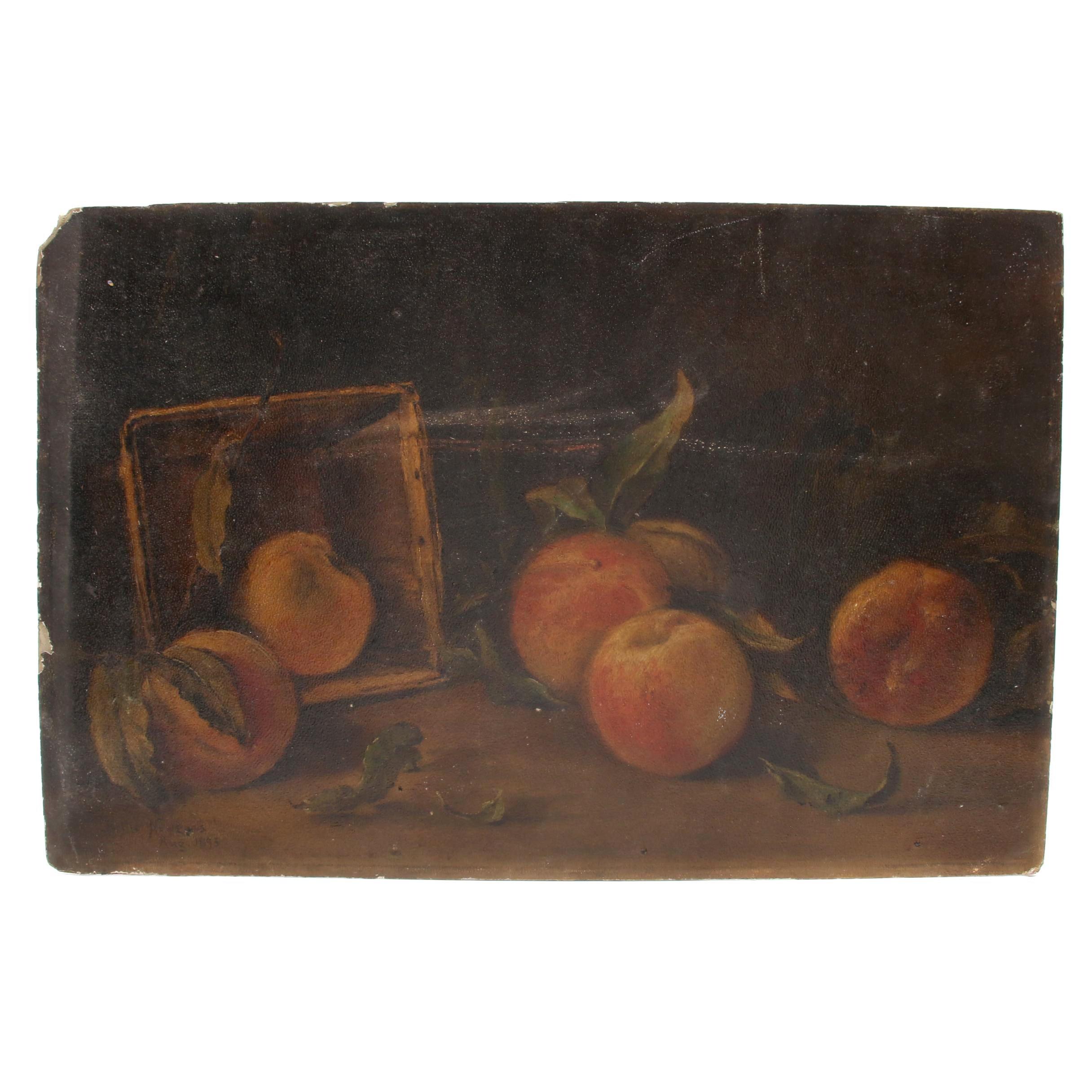 Bettie Newgass 1895 Oil Still Life Painting