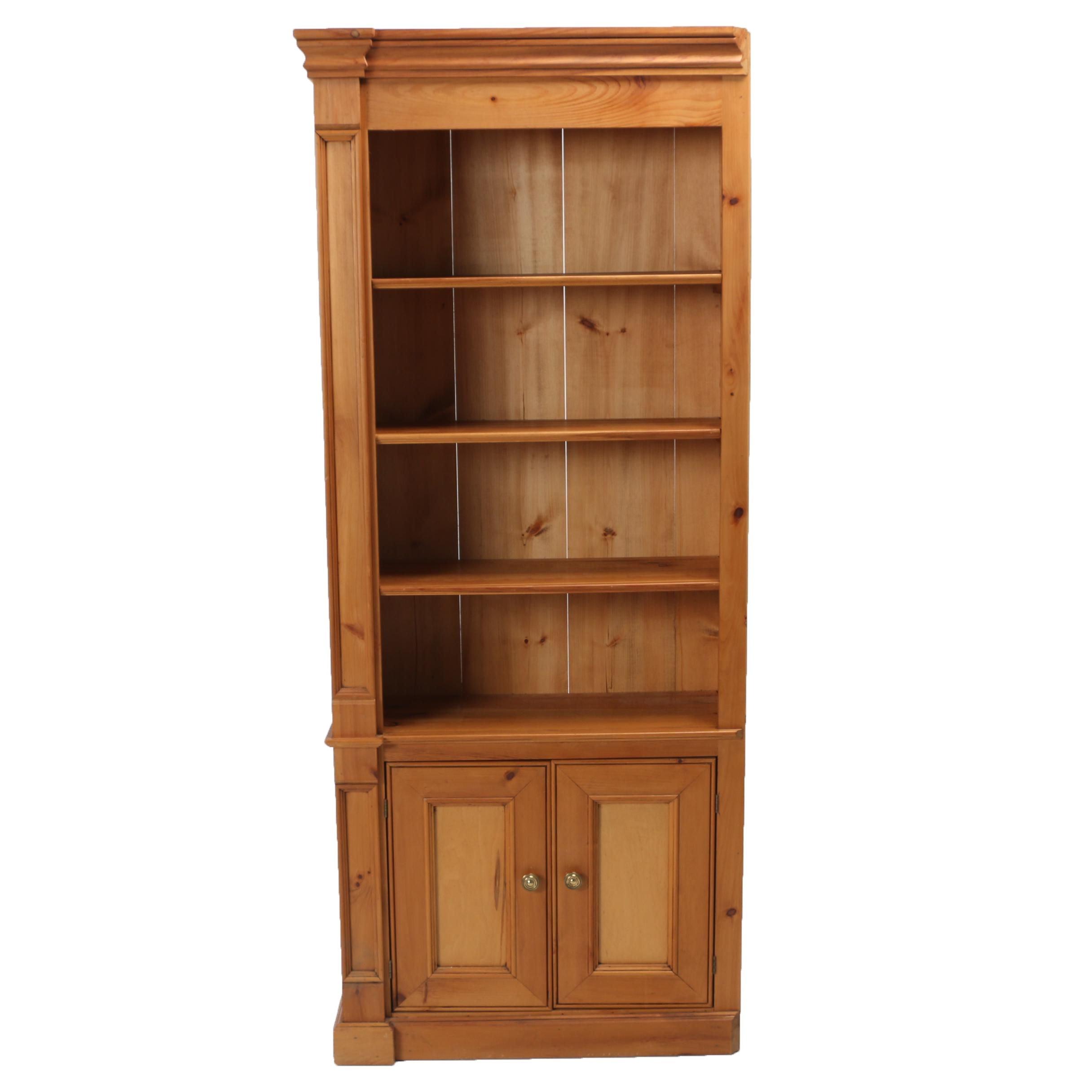 Contemporary Pine Custom-Made Left-Facing Bookcase