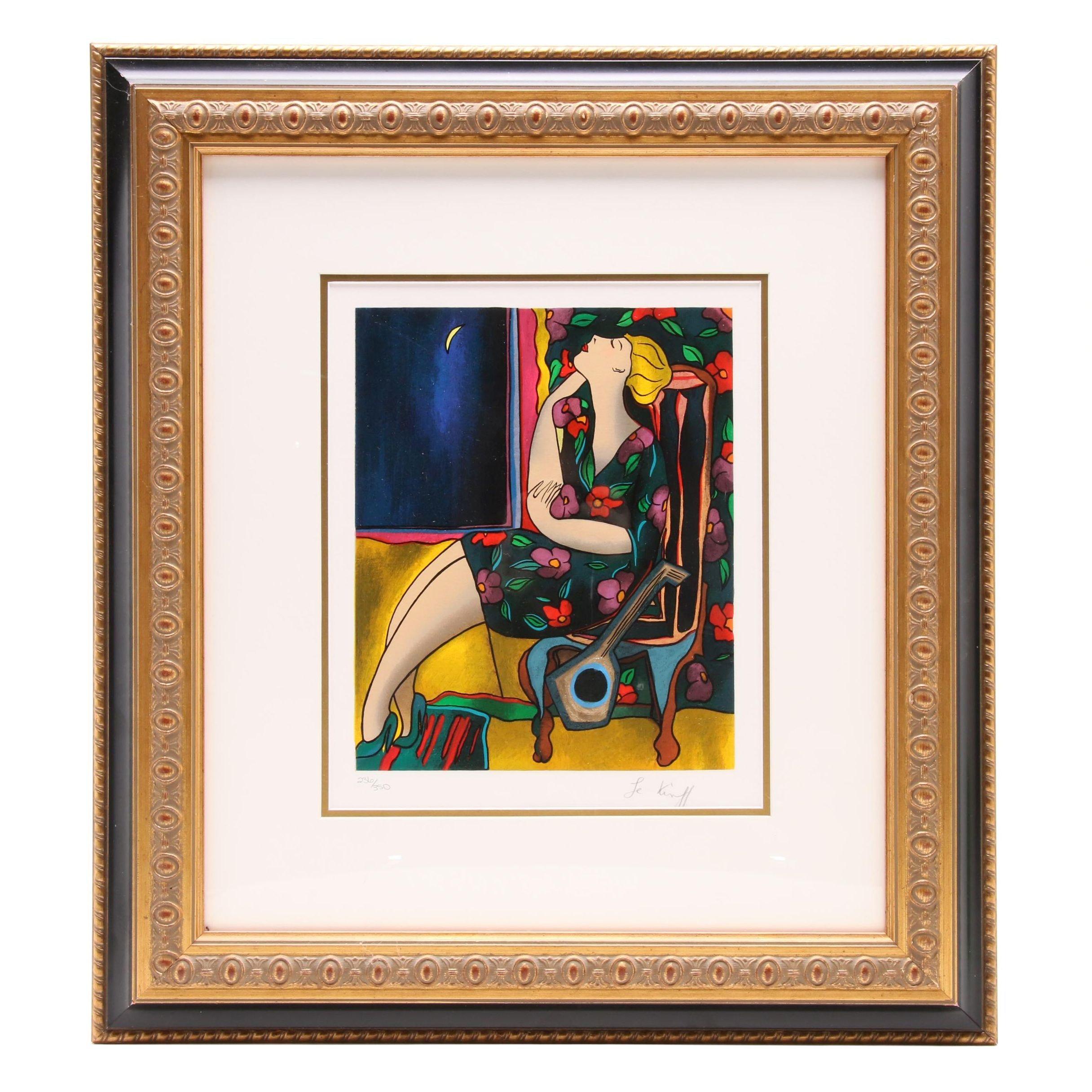 "Linda Le Kinff 2002 Limited Edition Serigraph ""Eclypse"""