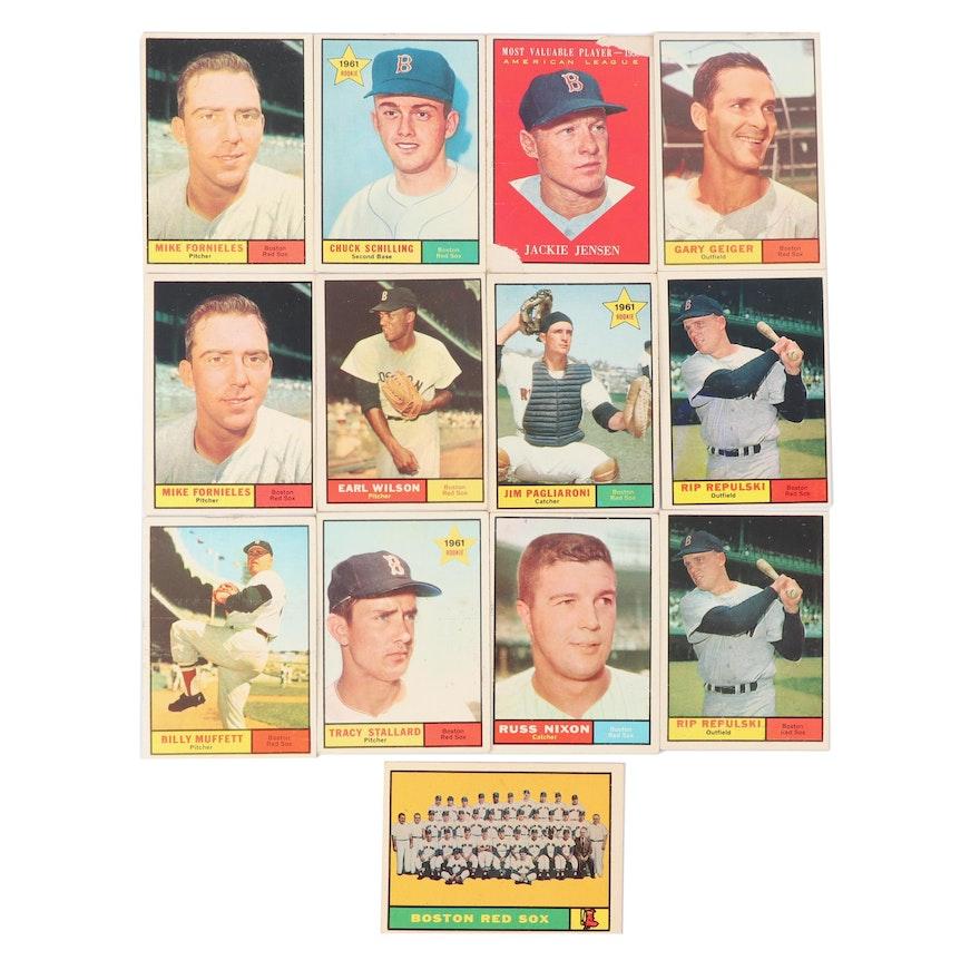Topps Baseball Cards Including Jackie Jensen Mvp Card 1961