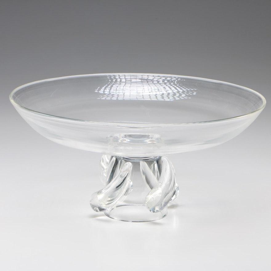 "Steuben Art Glass ""Swirl"" Centerpiece Bowl by George Thompson, Mid-Century"