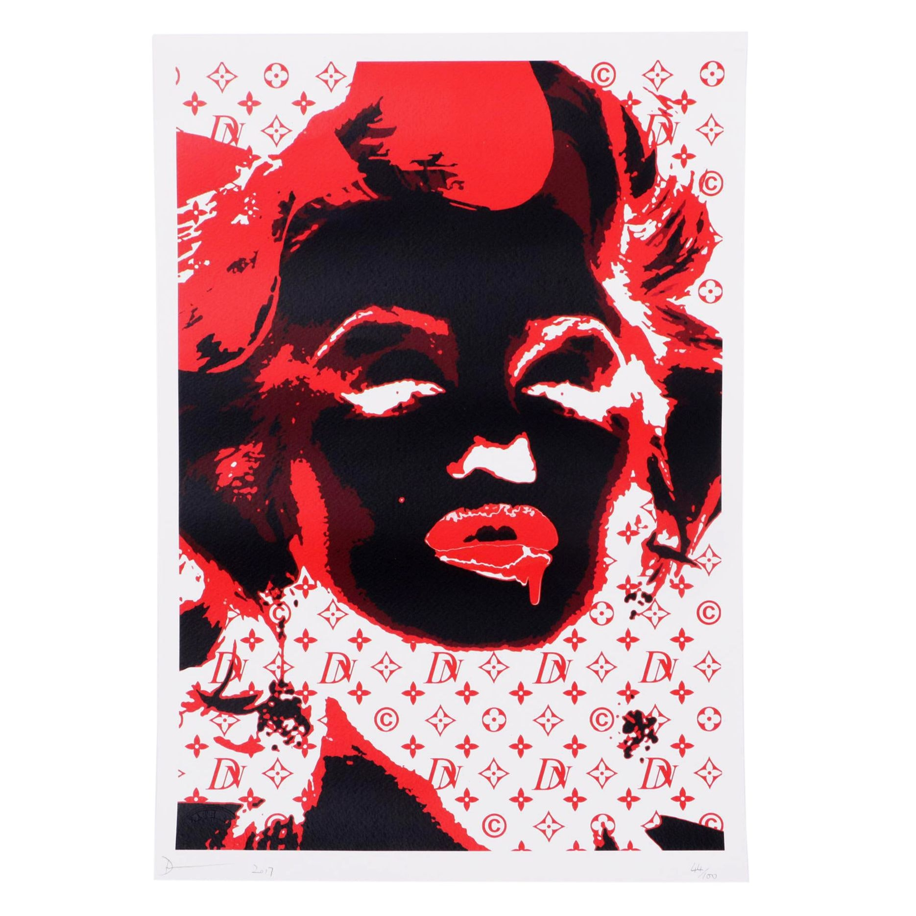 "Death NYC Limited Edition Street-art Style Offset Print ""Monro Glow"""