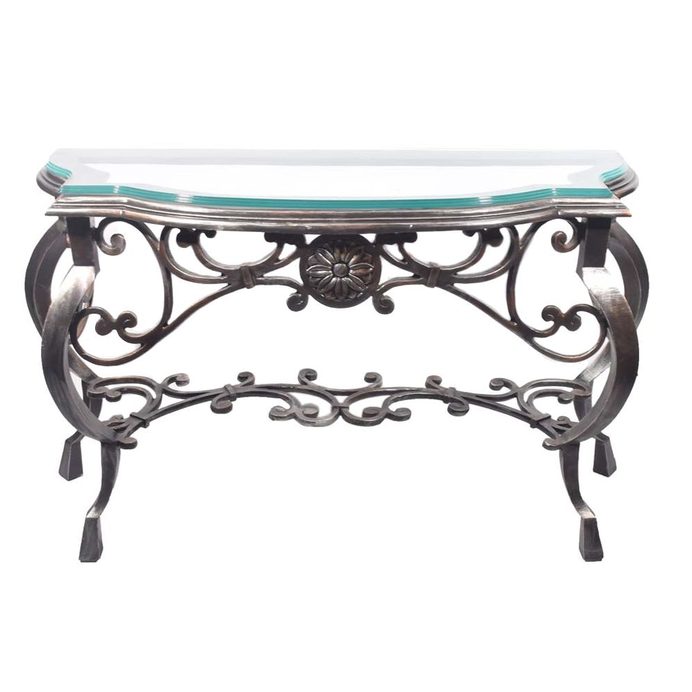 Italianate Steel Console Table, Contemporary