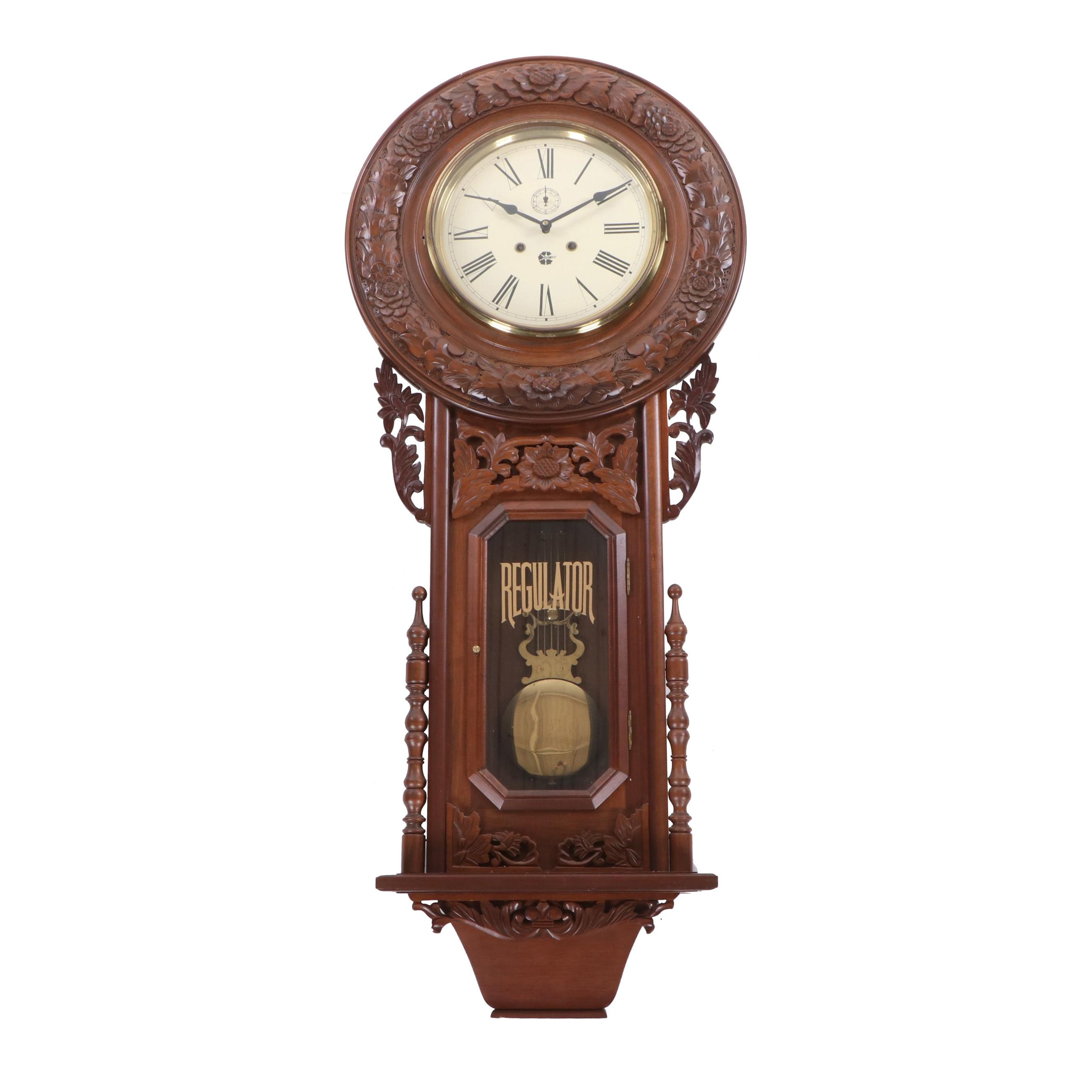 Vienna Style Westminster Chime Regulator Wall Clock