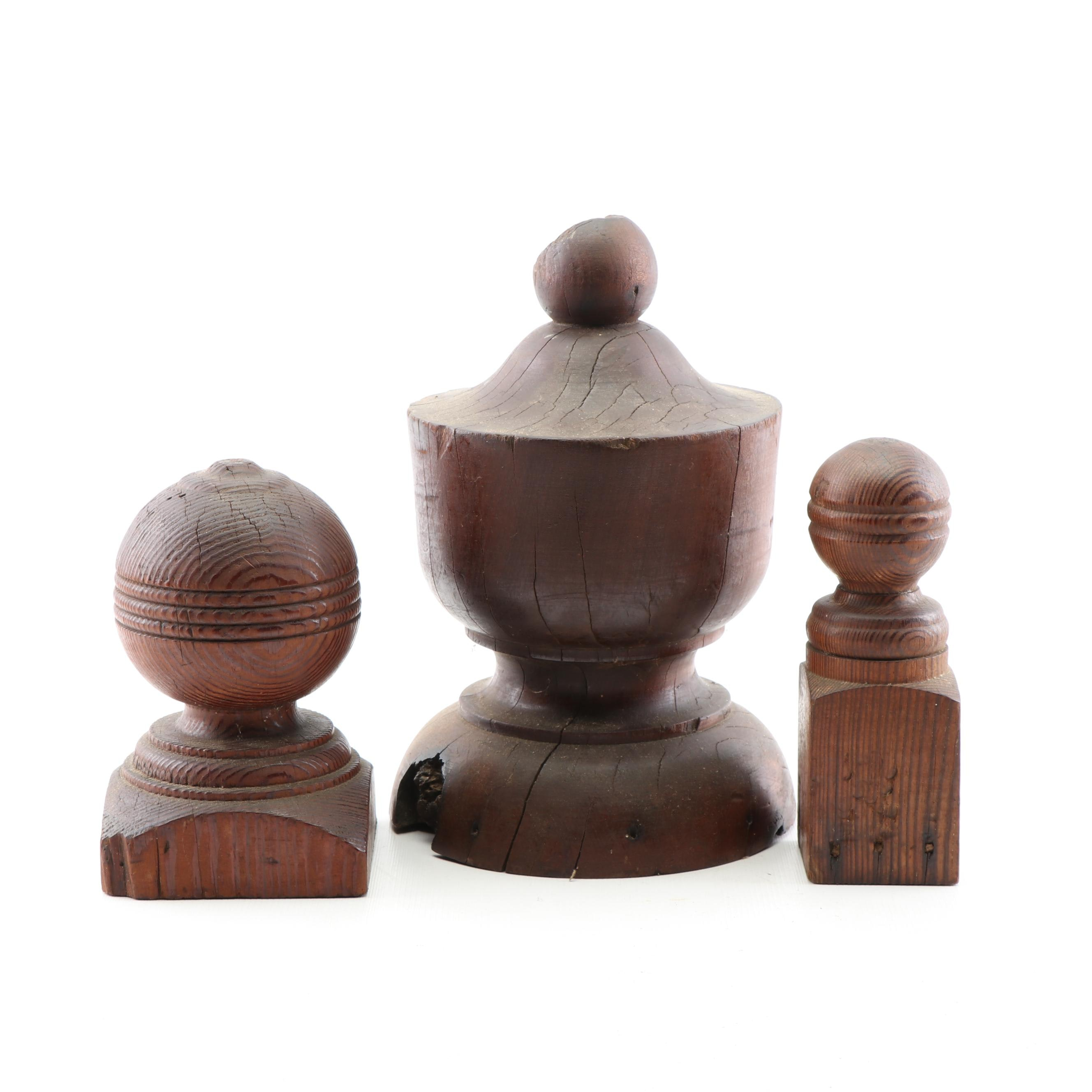 Hardwood Finials, Early/Mid-20th Century