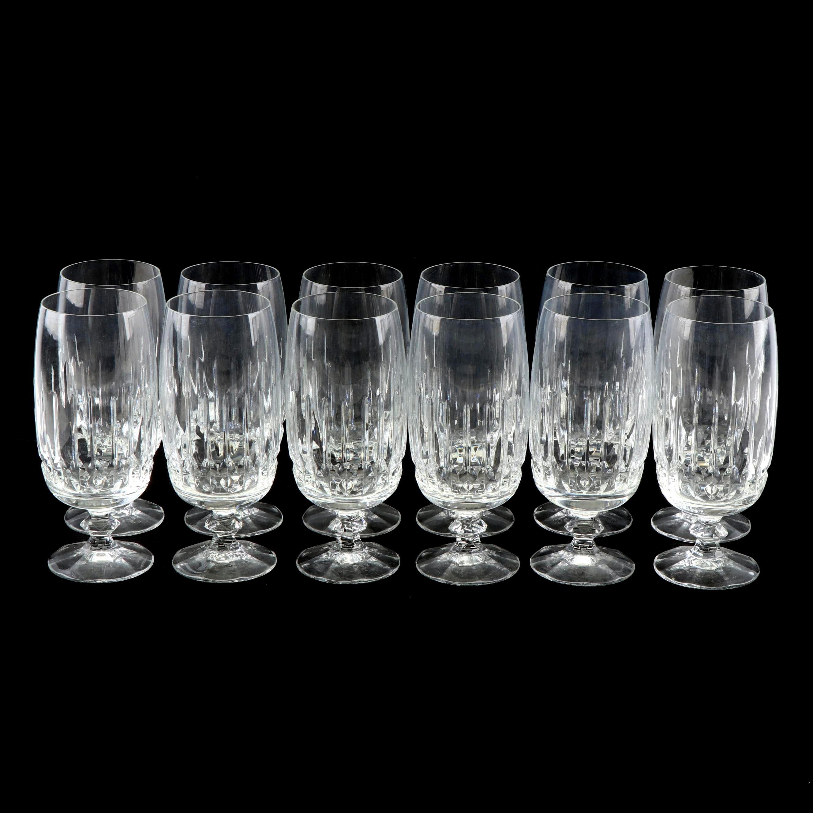 Cut Crystal Water Goblet Set