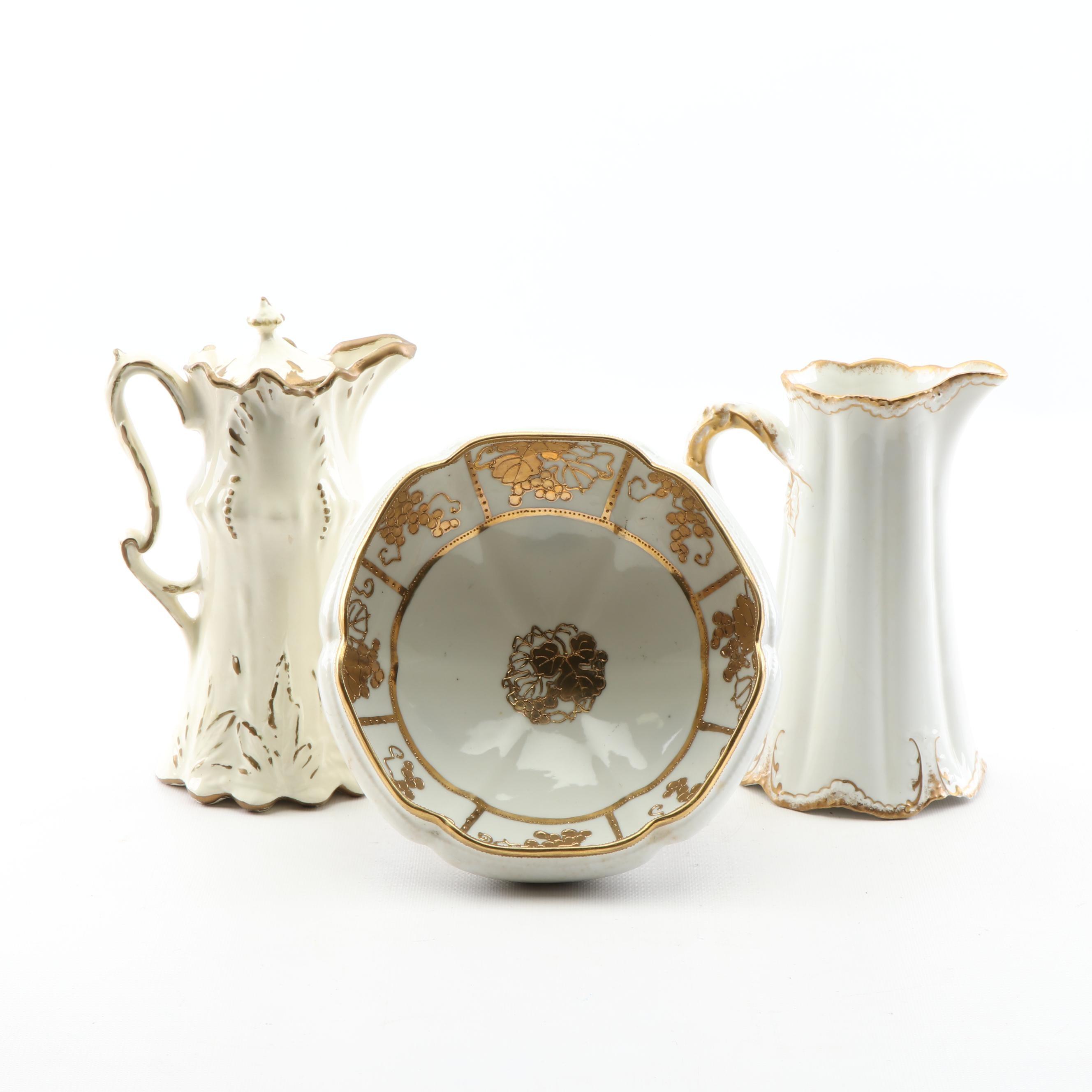 Porcelain Tableware including Noritake Nippon and Theodore Haviland
