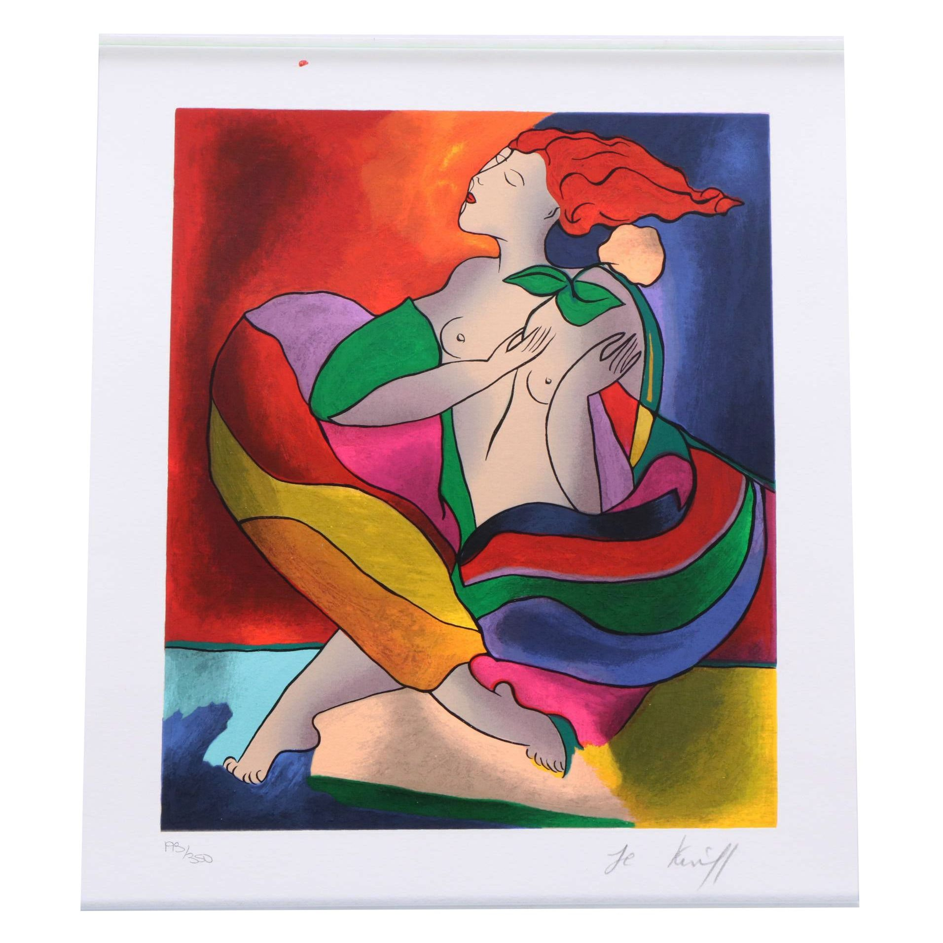 """Linda Le Kinff Limited Edition Serigraph """"Constellation"""""""