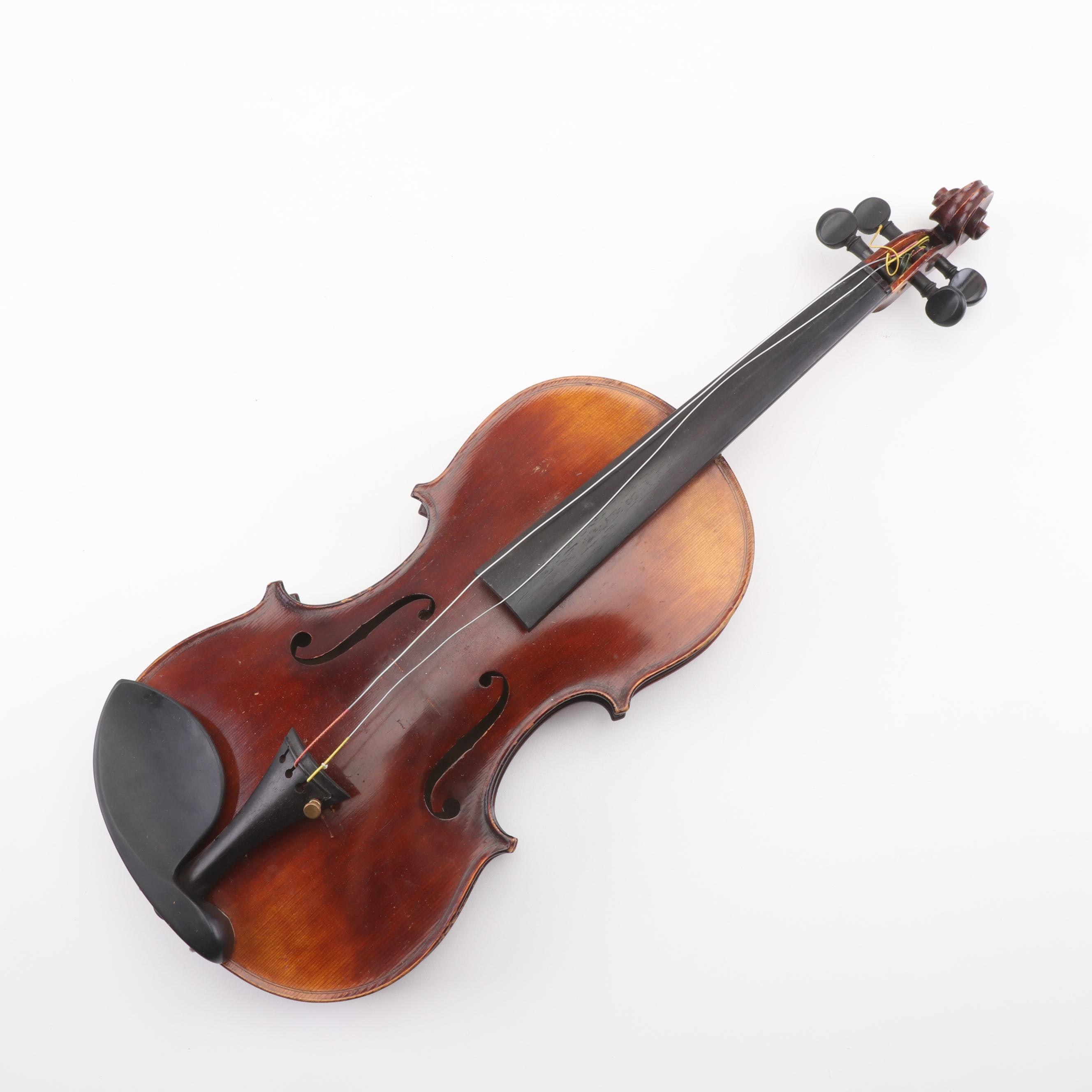 German Carl Neuner Violin, Late 19th/ Early 20th Century