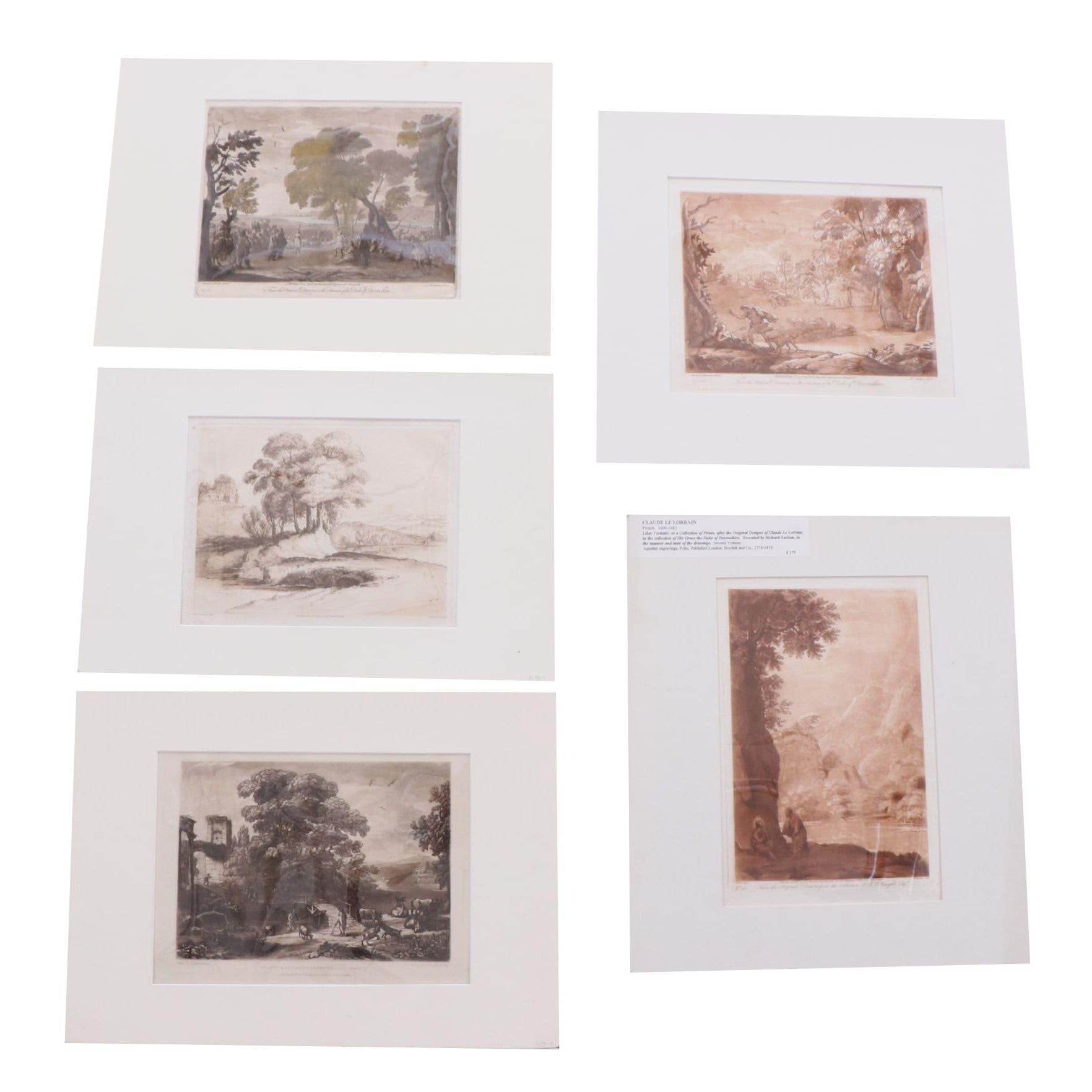 Collection of Etchings and Engravings after Claude Lorrain