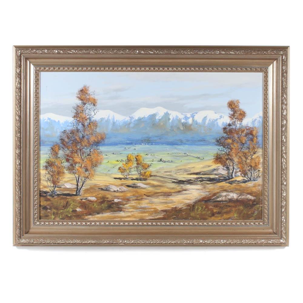 Dean Purdy Close Mountain Landscape Oil Painting