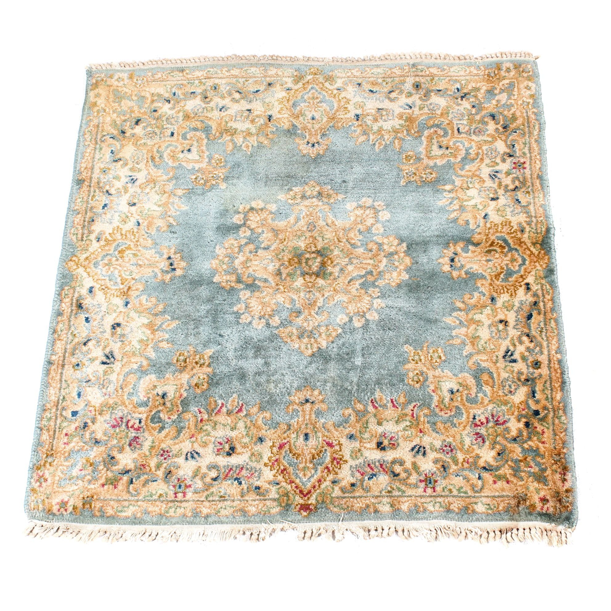 Semi-Antique Hand-Knotted Persian Kerman Rug