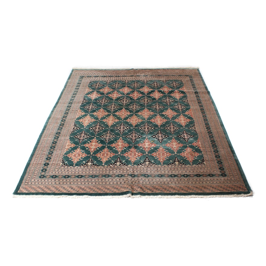 Hand Knotted Pakistani Bokhara Rug Ebth