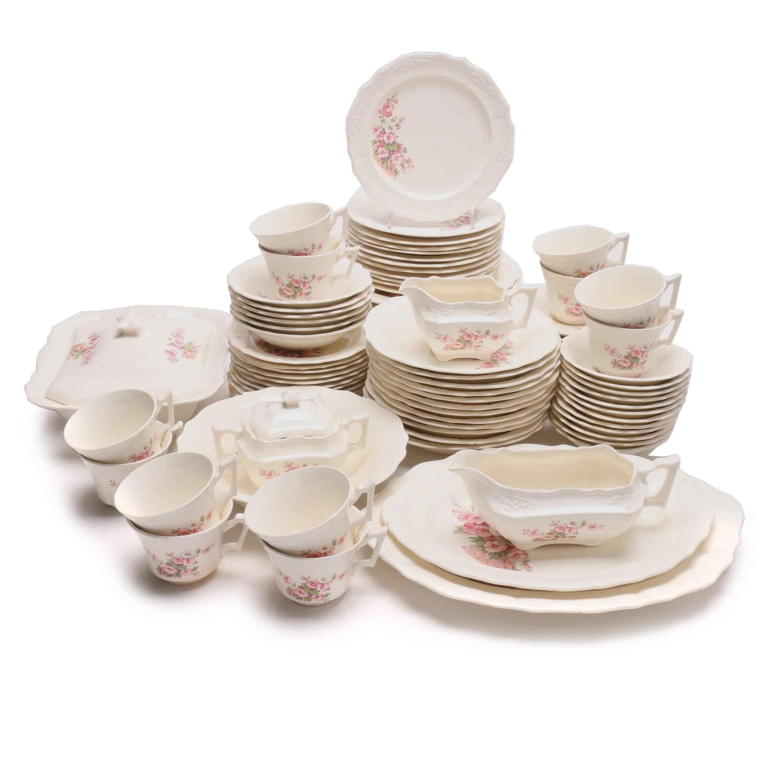 C.C. Thompson Pottery Co. Dinnerware Service for Twelve