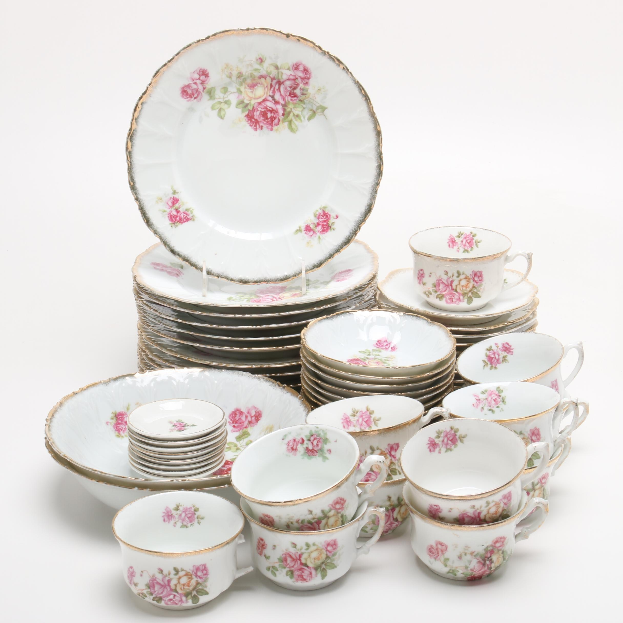 Porcelain Dinnerware including Carl Tielsch, Late 19th Century